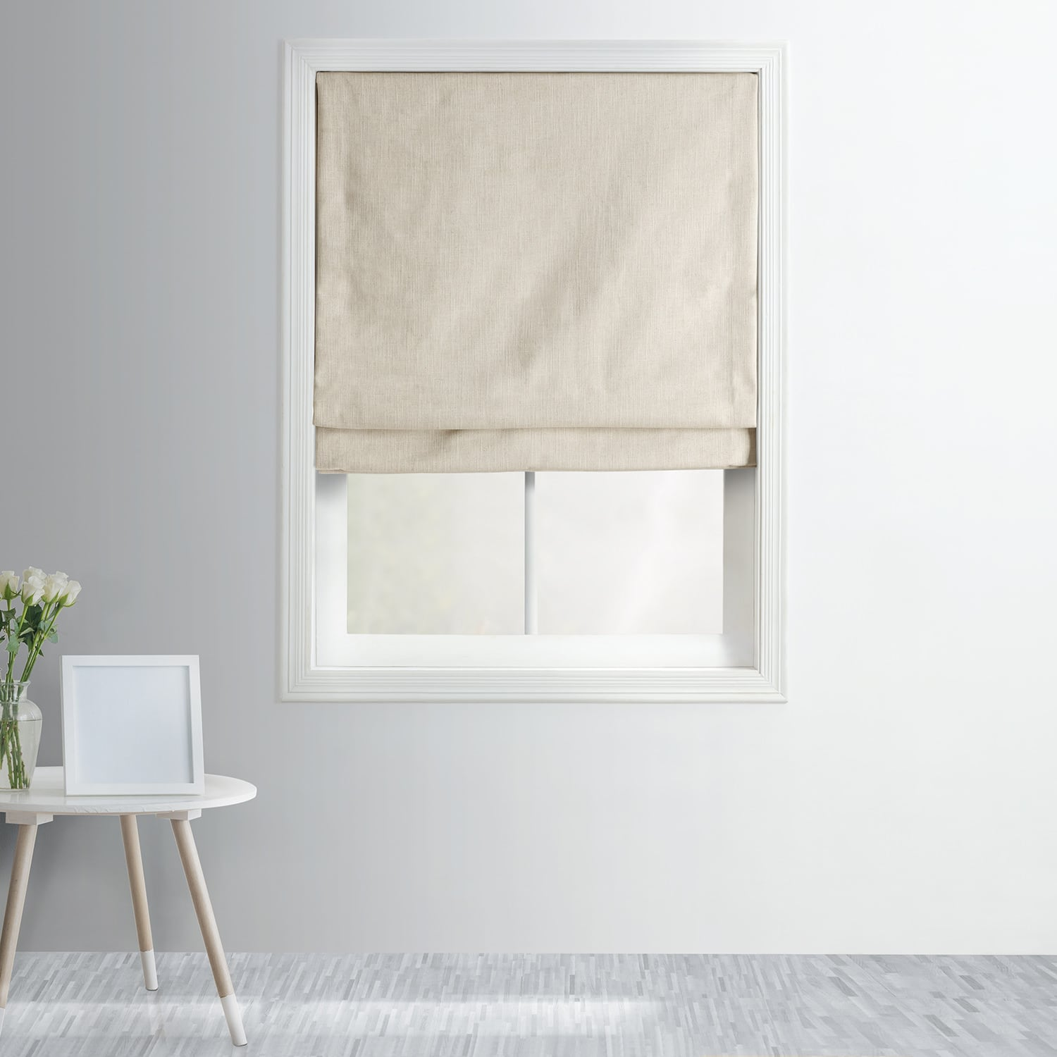 Heavy Textured Linen Roman Shade