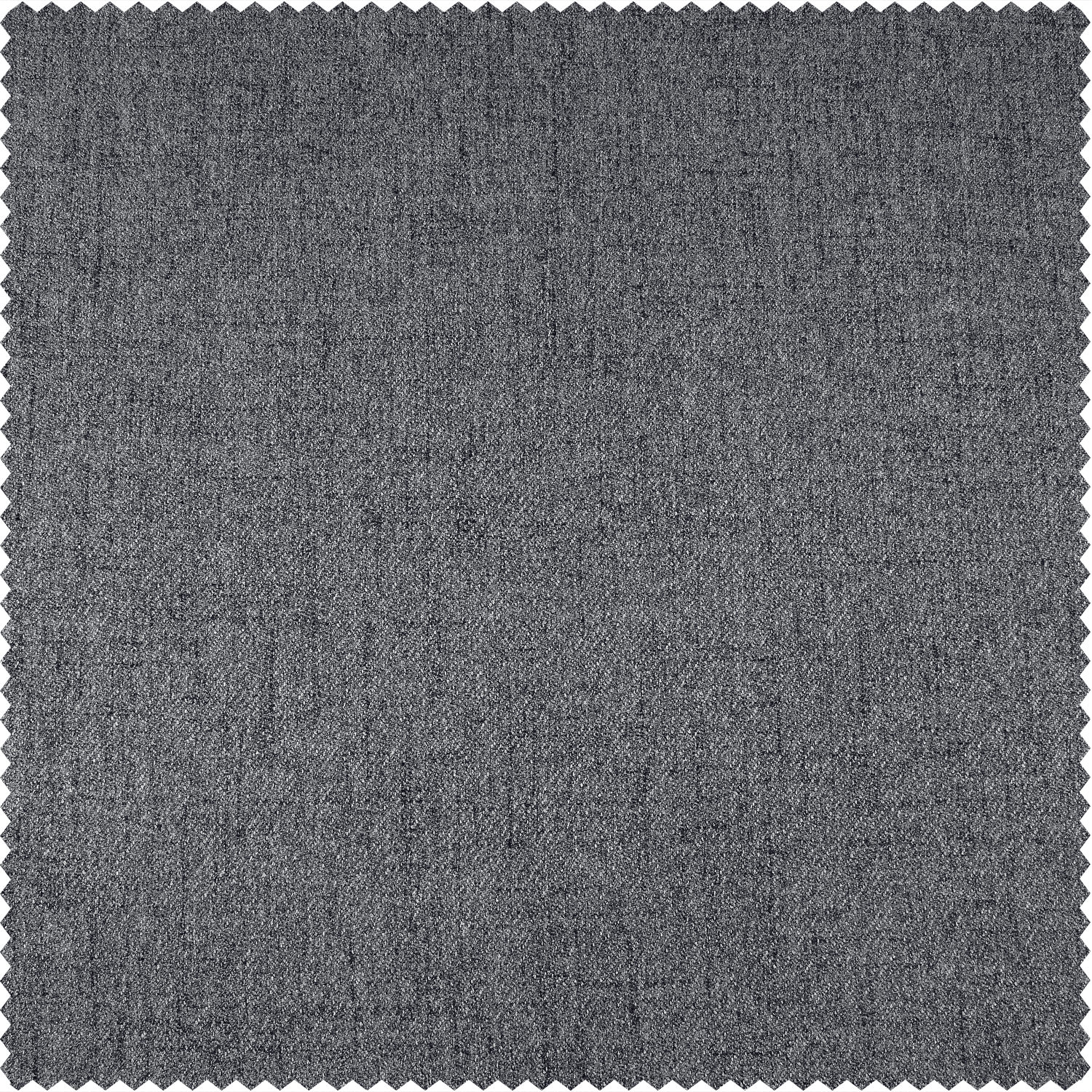 Modern Grey Thermal Room Darkening Heathered Italian Woolen Weave Swatch