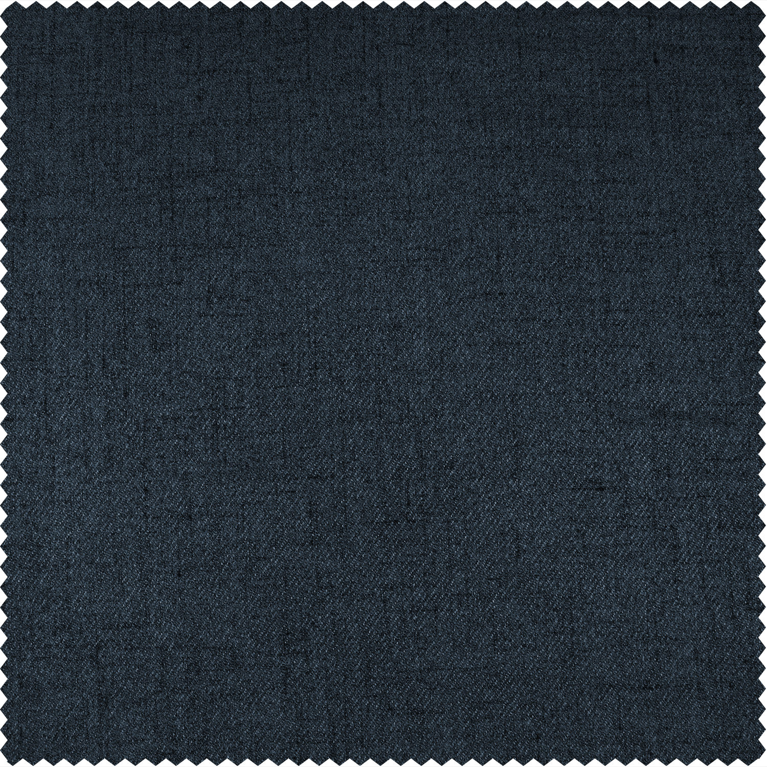 Dark Denim Blue Thermal Room Darkening Heathered Italian Woolen Weave Swatch