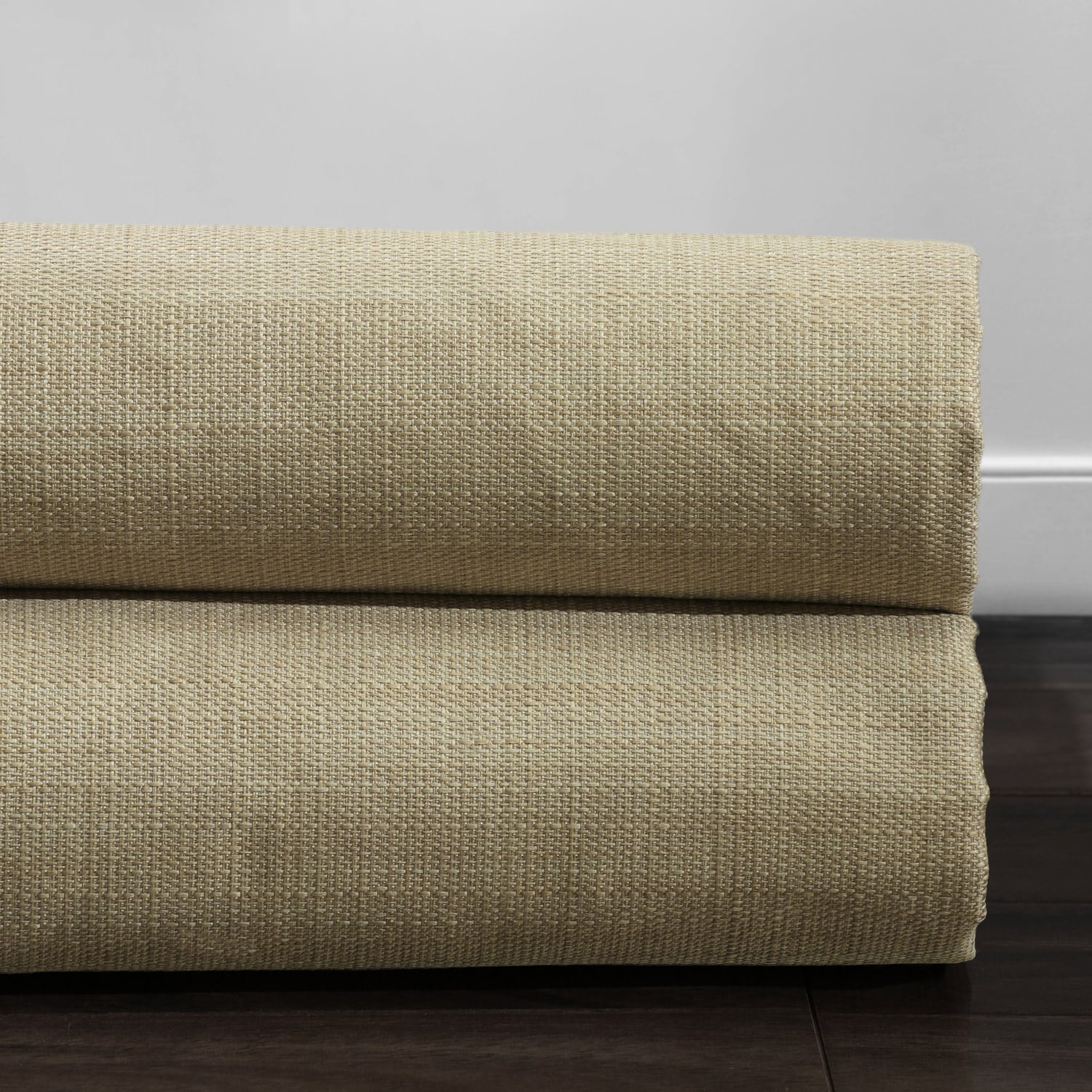 Classic Tan Italian Textured Faux Linen Hotel Blackout Swatch
