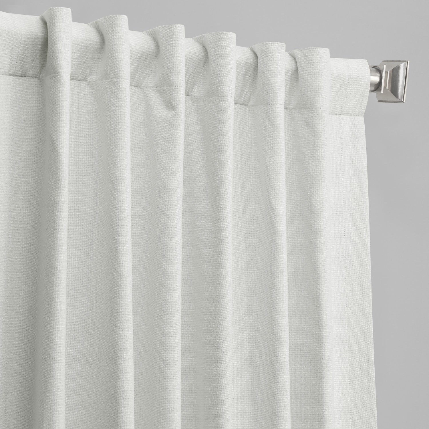 Starlight Off White Vintage Thermal Cross Linen Weave Max Blackout Curtain