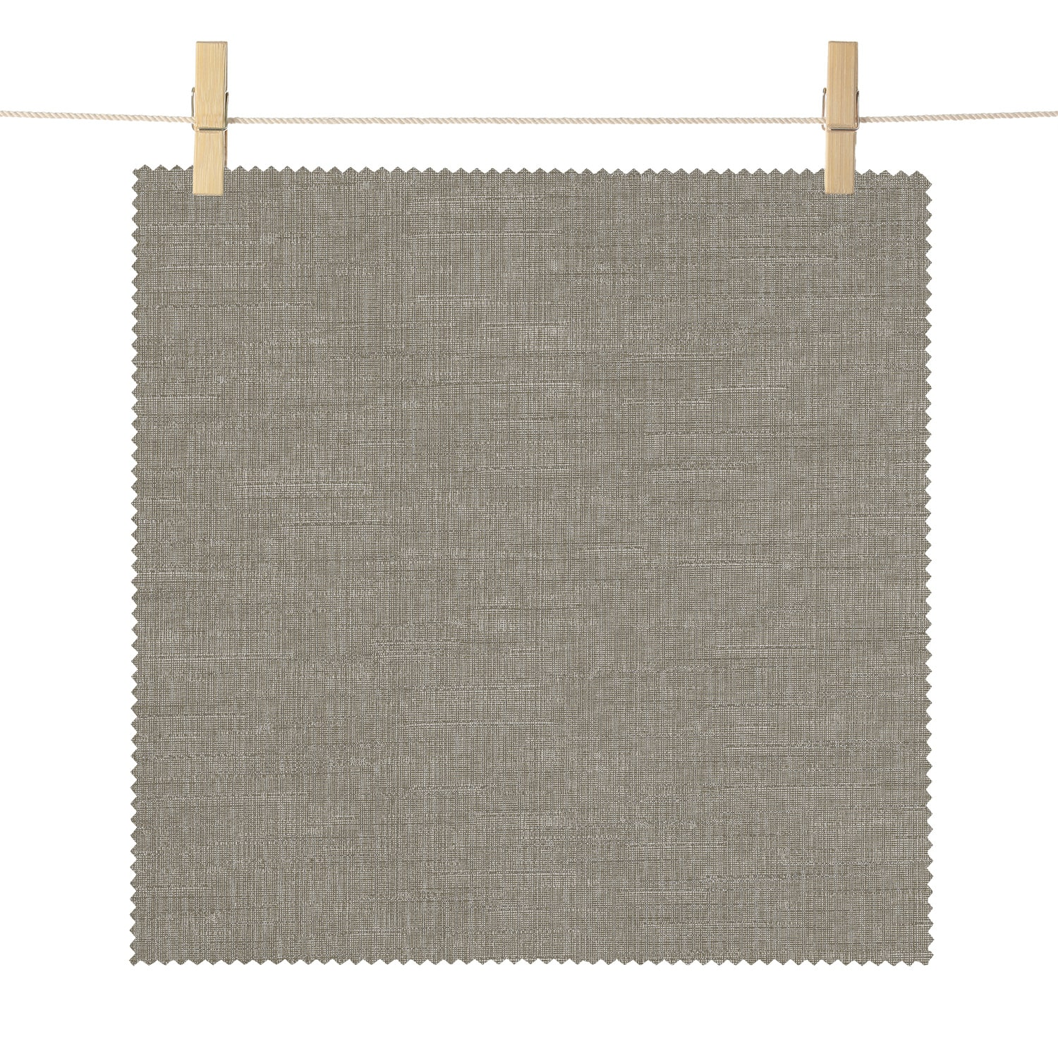 Saratoga Grey Bedford Textured Light Filtering Roller Shade Swatch