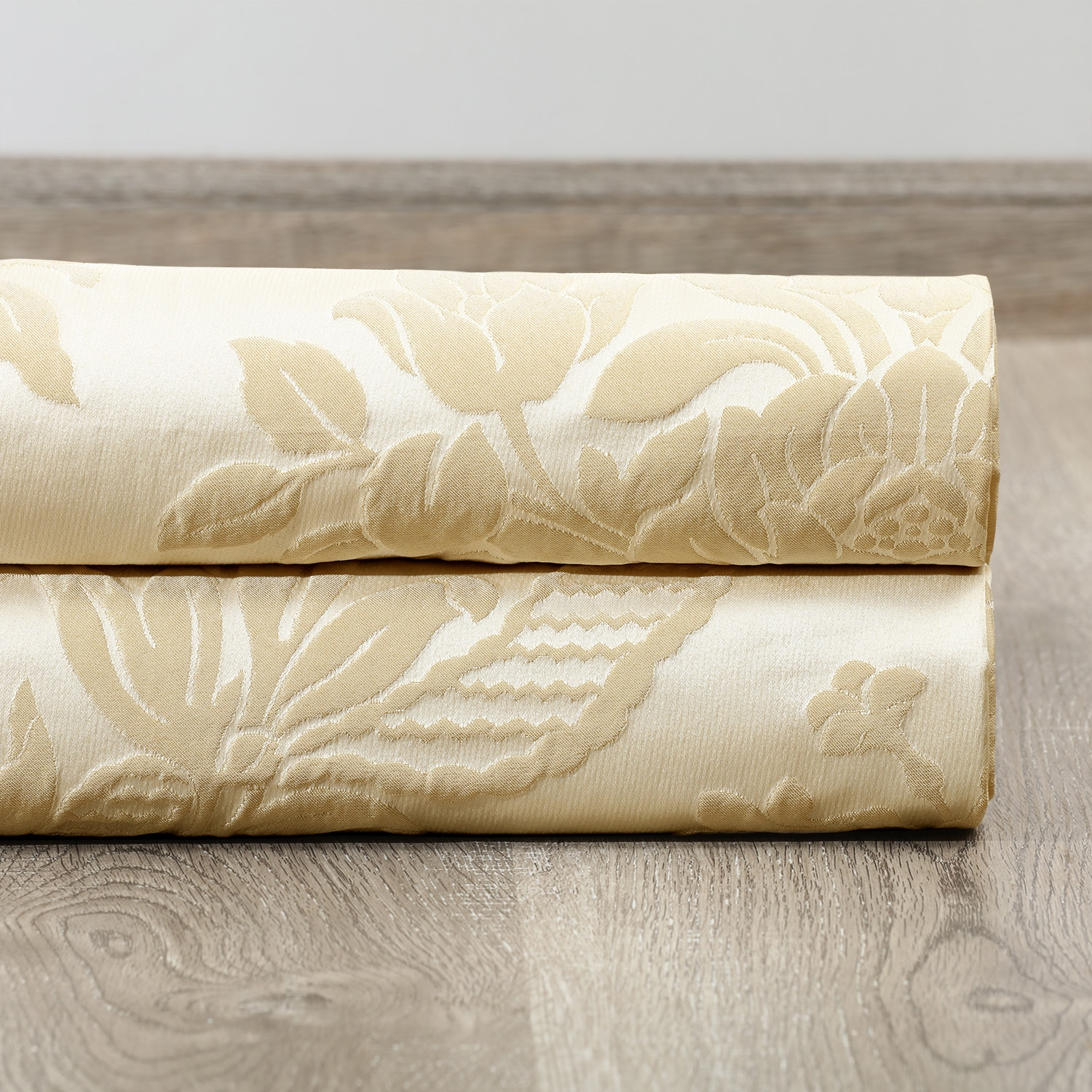 Magdelena Champagne Faux Silk Jacquard Fabric