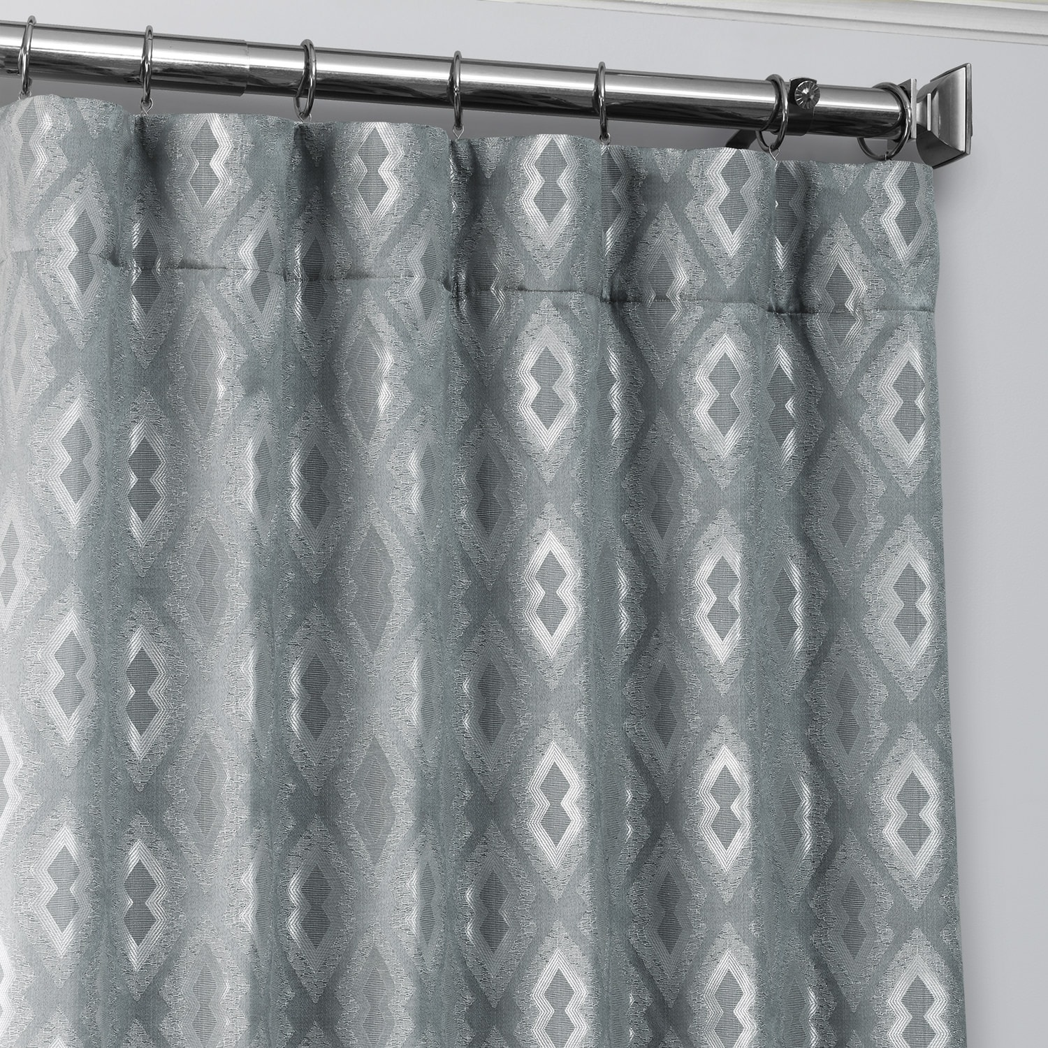 Paragon Blue Designer Jacquard Curtain
