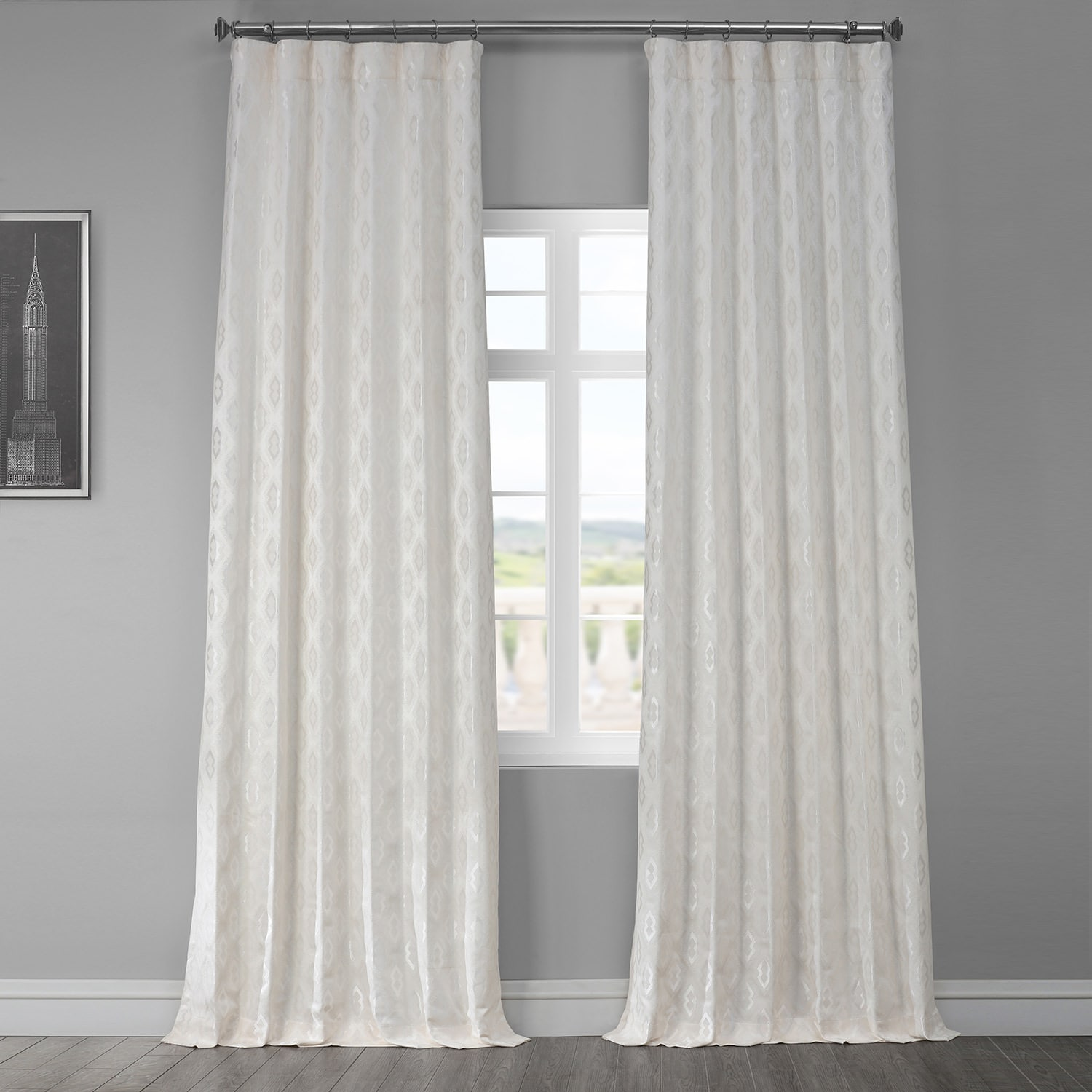 Paragon Cream Designer Jacquard Curtain