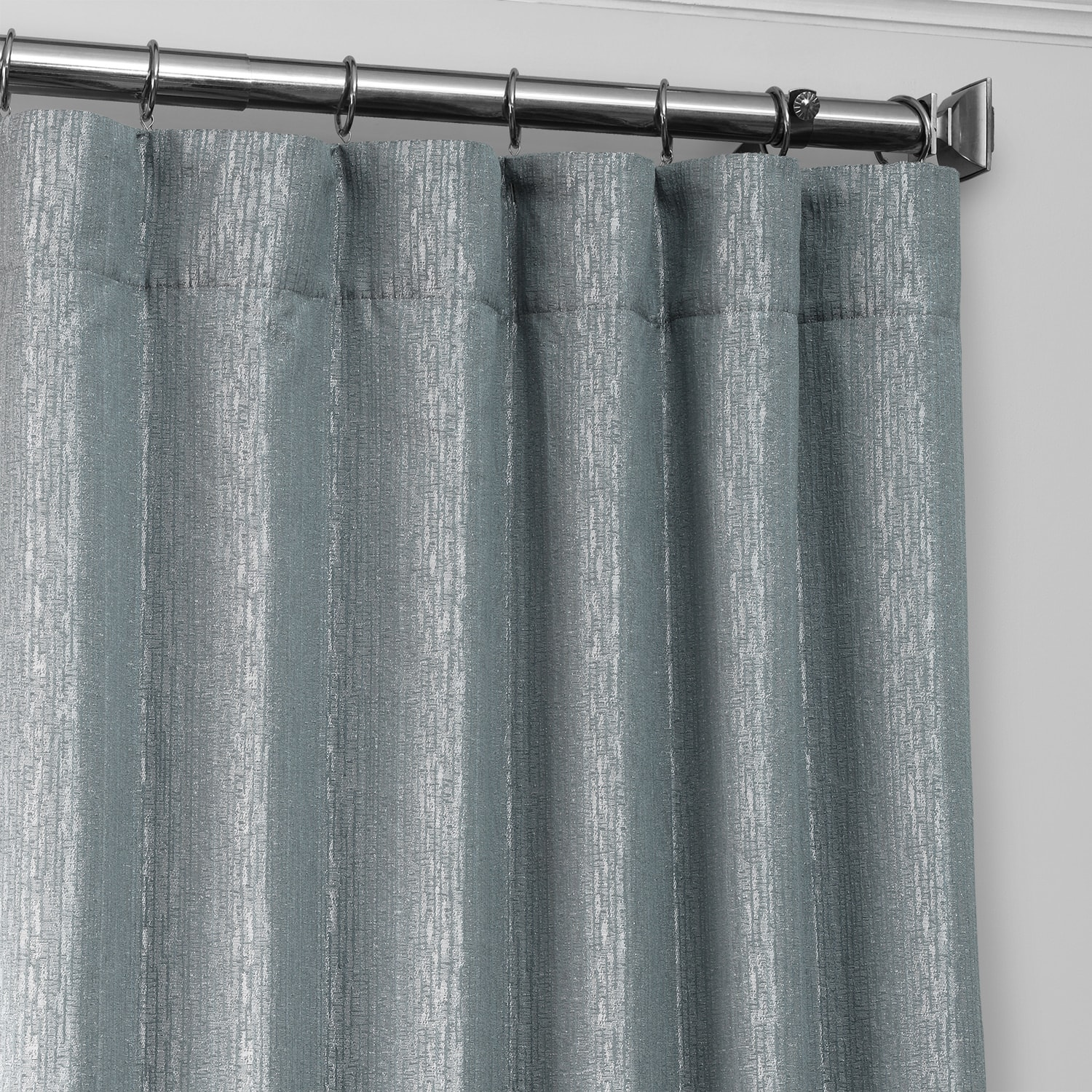 Birchwood Blue Designer Jacquard Curtain