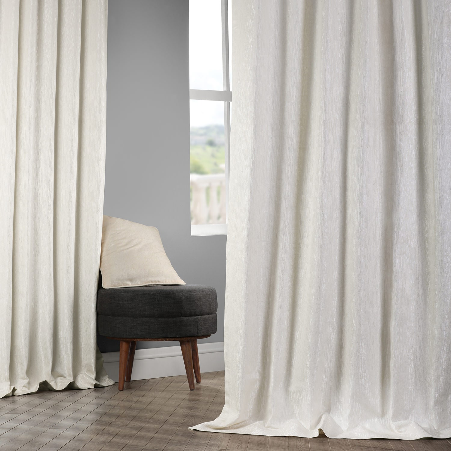 Birchwood Cream Designer Jacquard Curtain