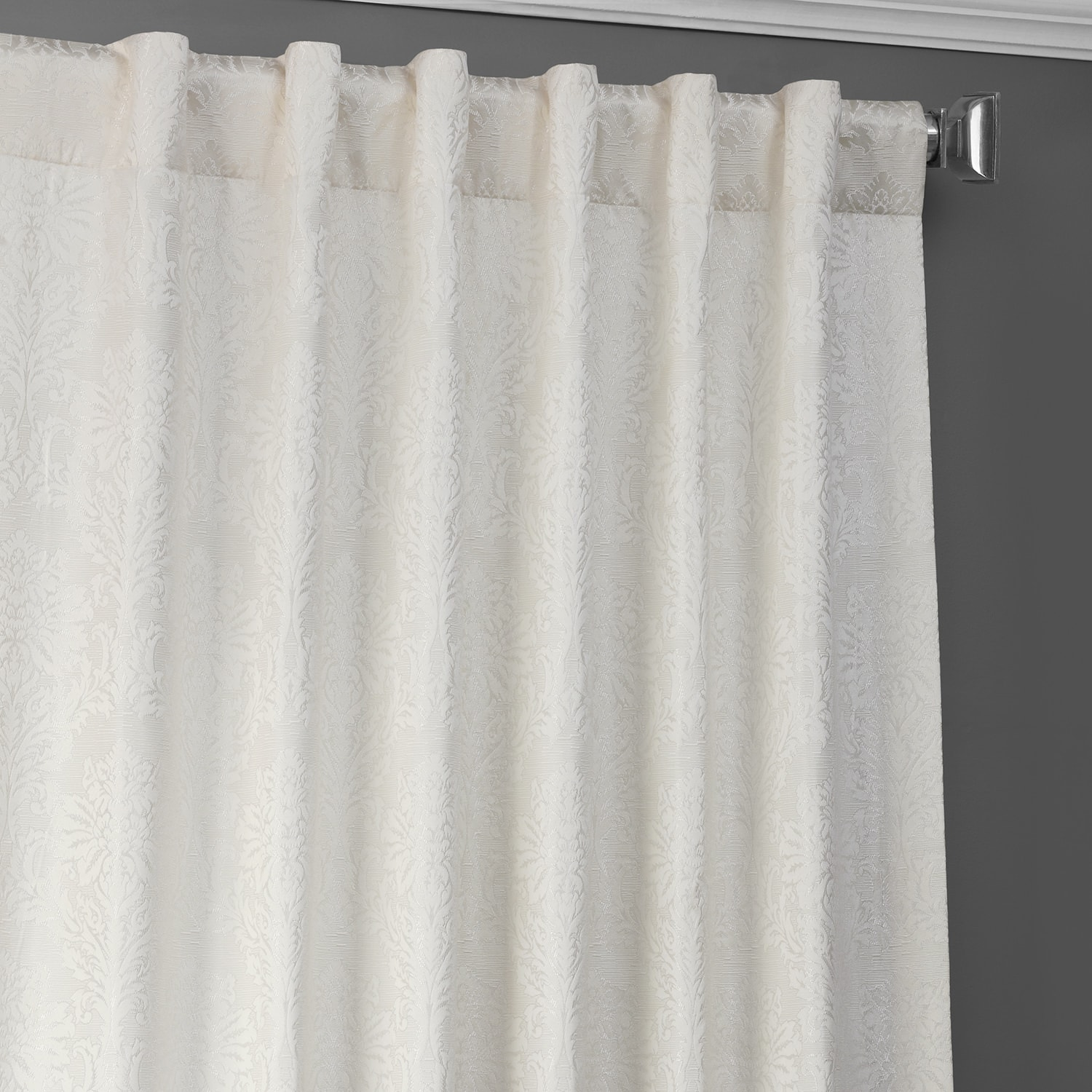 Cambric Cream Designer Jacquard Curtain