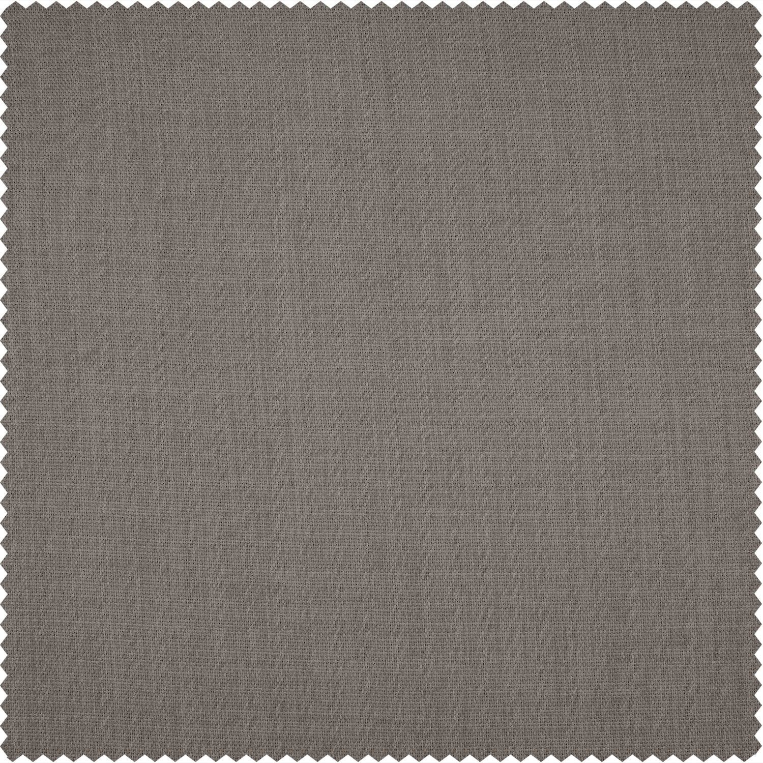 Warm Stone Grey Monochromatic Faux Linen Room Darkening Swatch