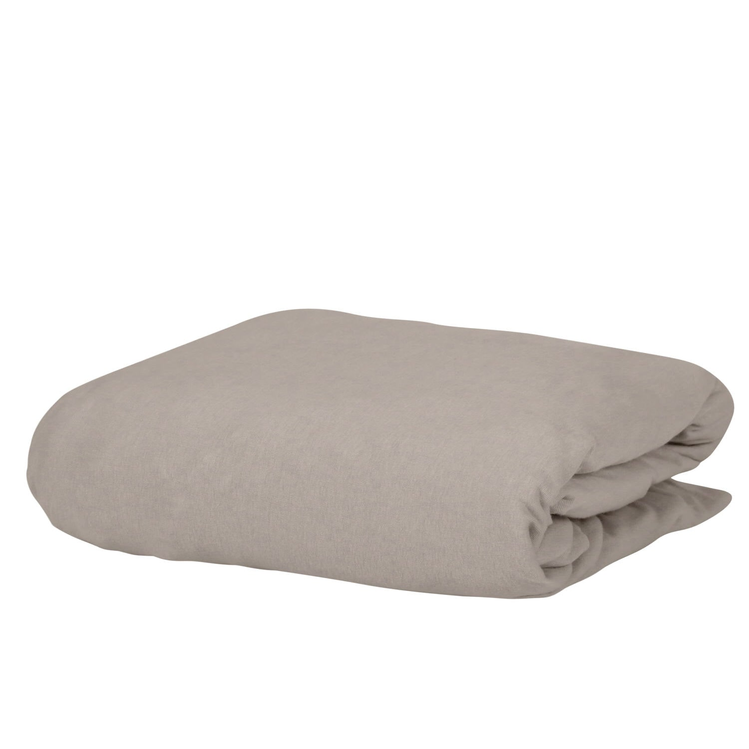 Microfiber Knitted 1500TC Beige Fitted Sheet