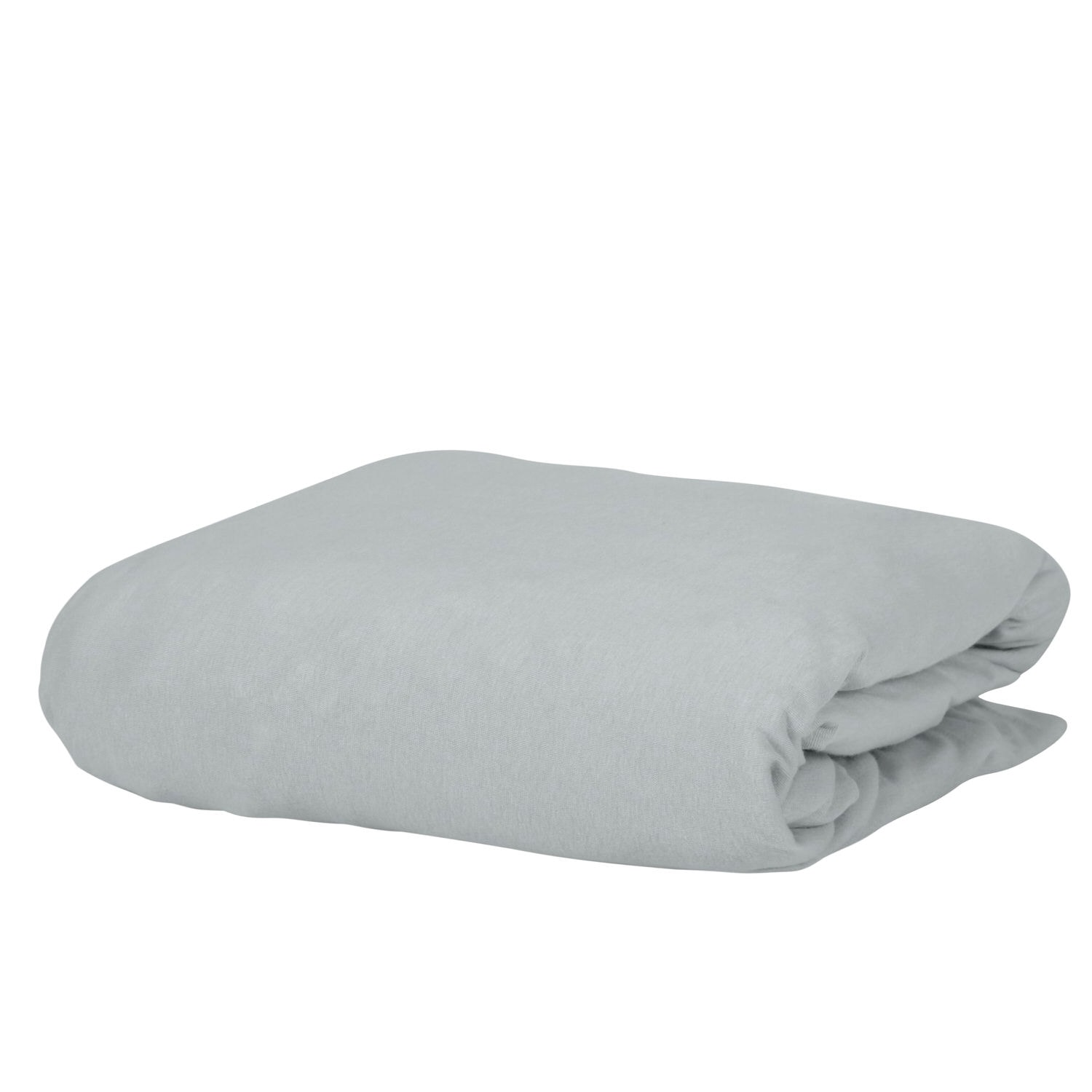 Microfiber Knitted 1500TC Silver Fitted Sheet