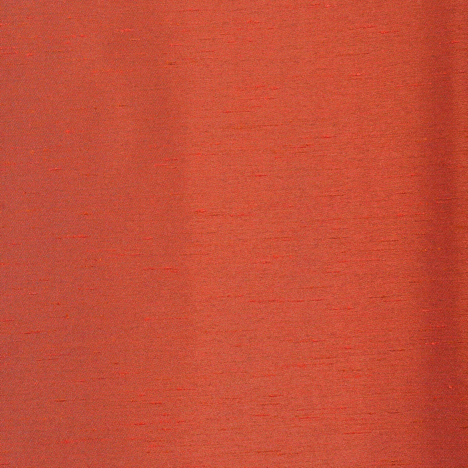 Blood Orange Yarn Dyed Faux Dupioni Silk Fabric