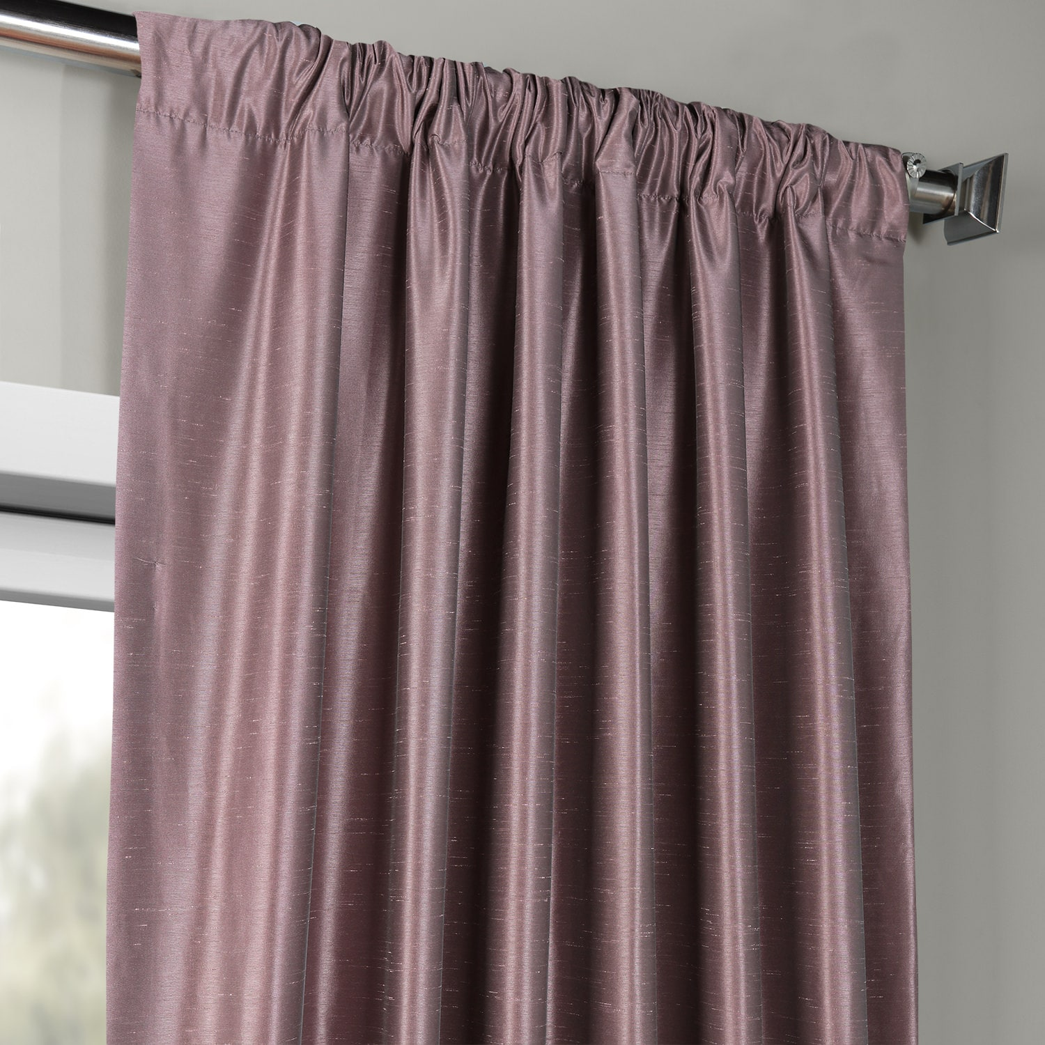 faux silk curtains smokey plum vintage textured faux dupioni silk curtains 10803