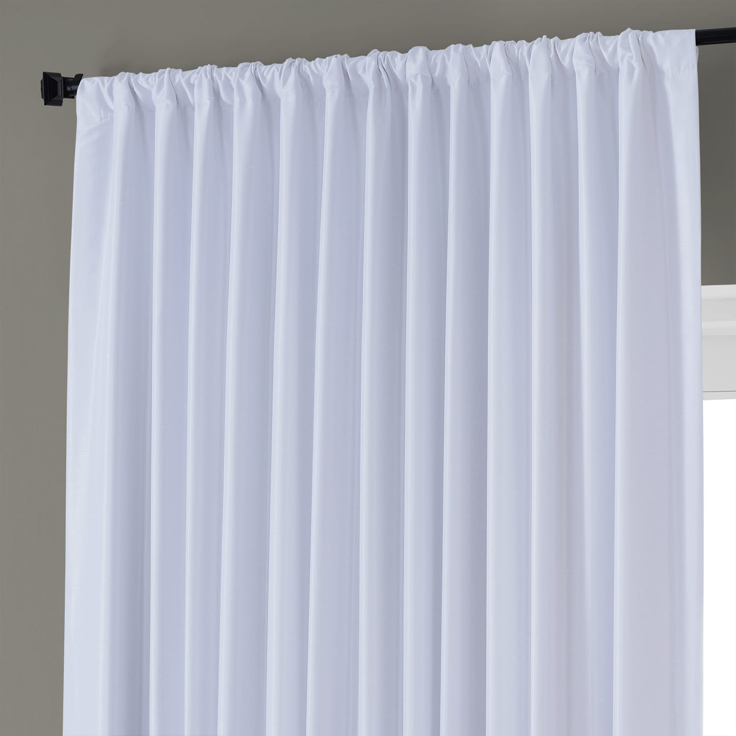 ice blackout extra wide textured faux dupioni curtain. Black Bedroom Furniture Sets. Home Design Ideas