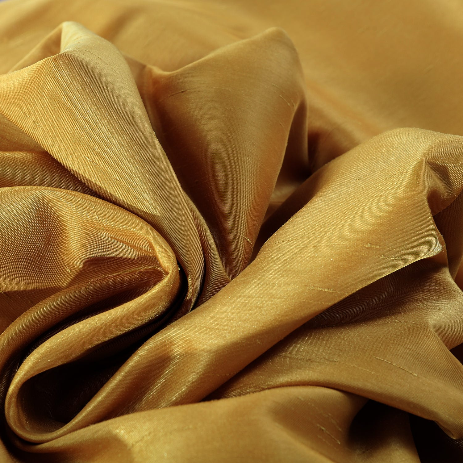 Allegro Gold Vintage Textured Faux Dupioni Silk Fabric