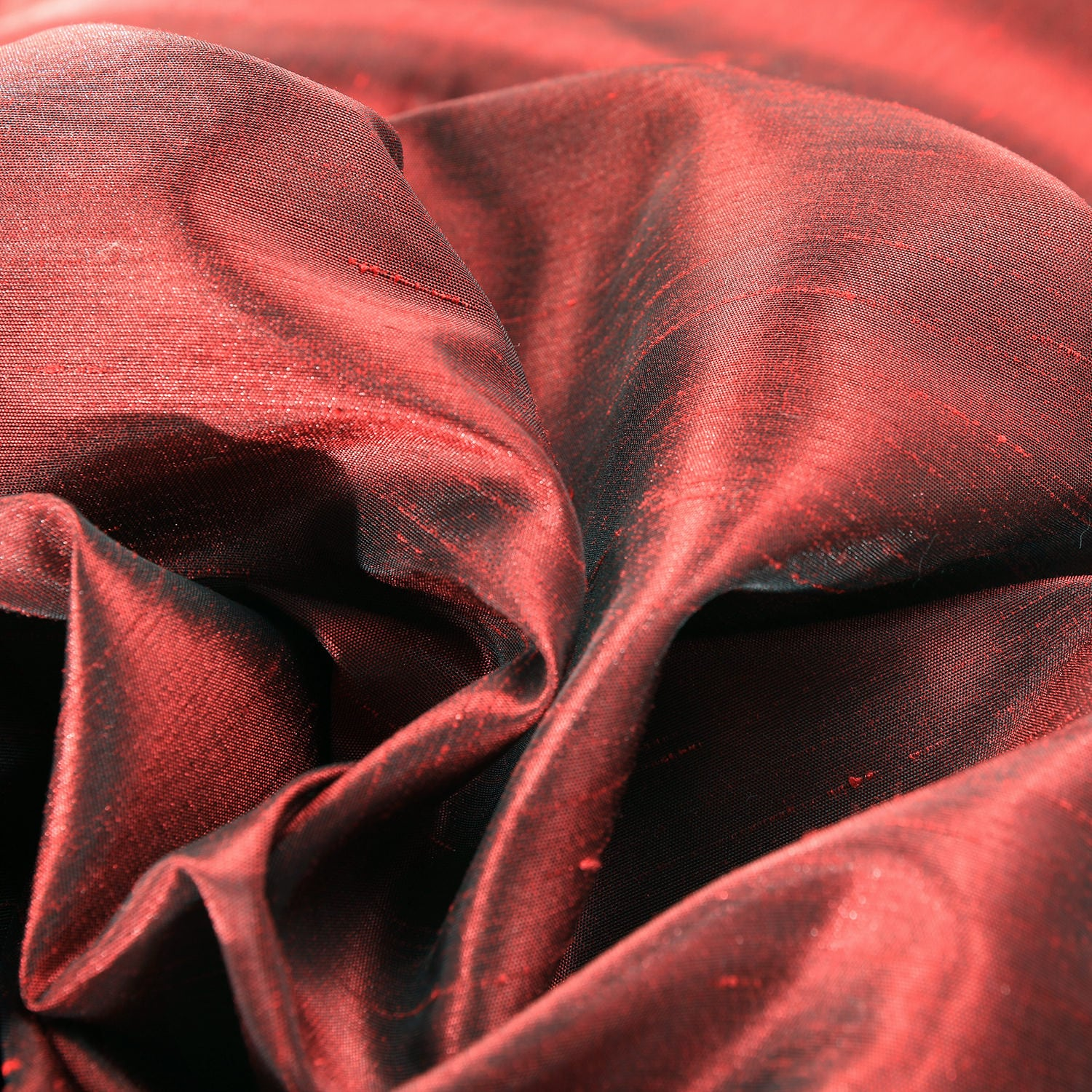 Ruby Vintage Textured Faux Dupioni Silk Fabric