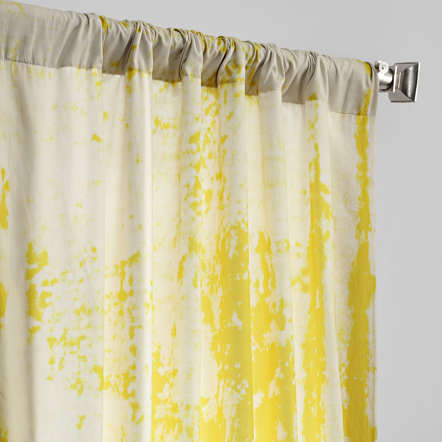 Arcade Yellow Digital Printed Cotton Twill Curtain