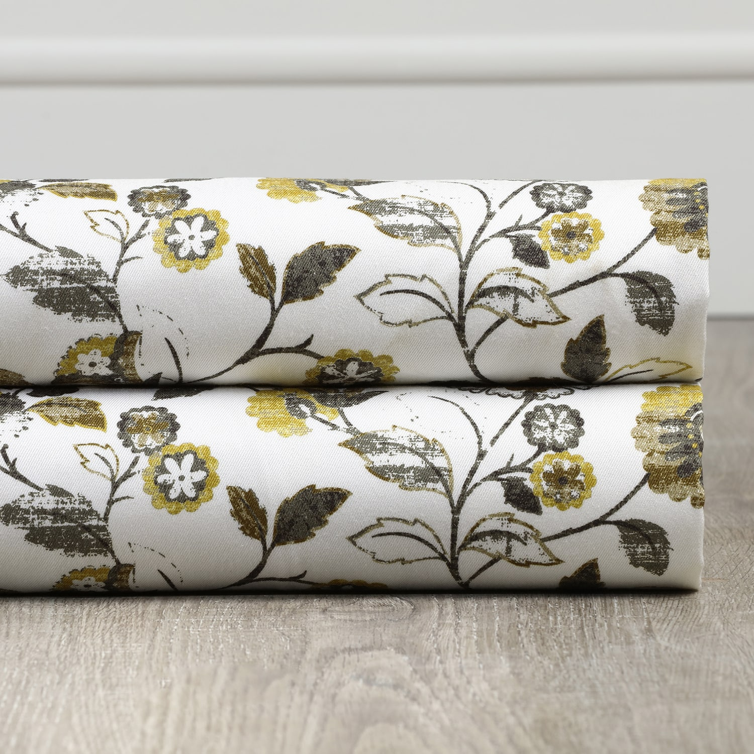 Madison Gold and Grey Digital Printed Cotton Twill Swatch