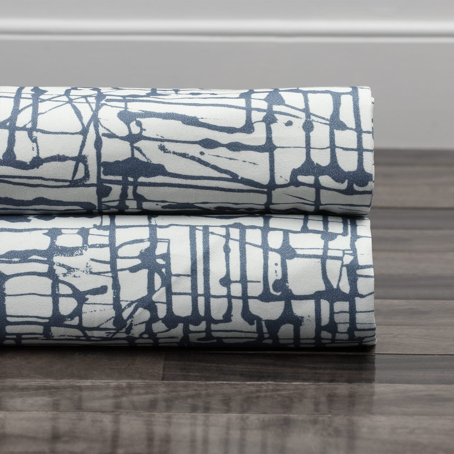 Le Mans Blue Digital Printed Cotton Twill Swatch