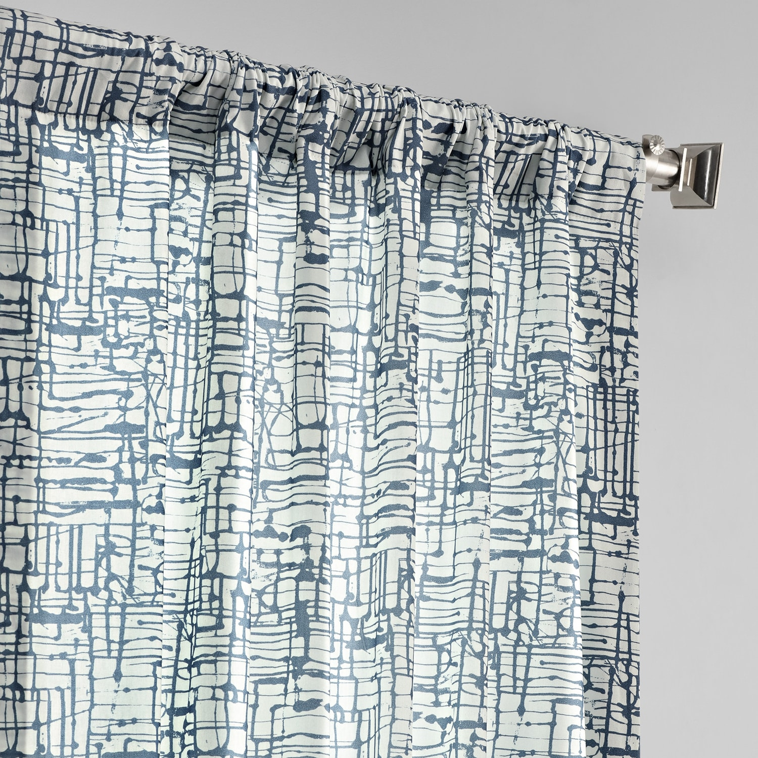 Le Mans Blue Digital Printed Cotton Twill Curtain