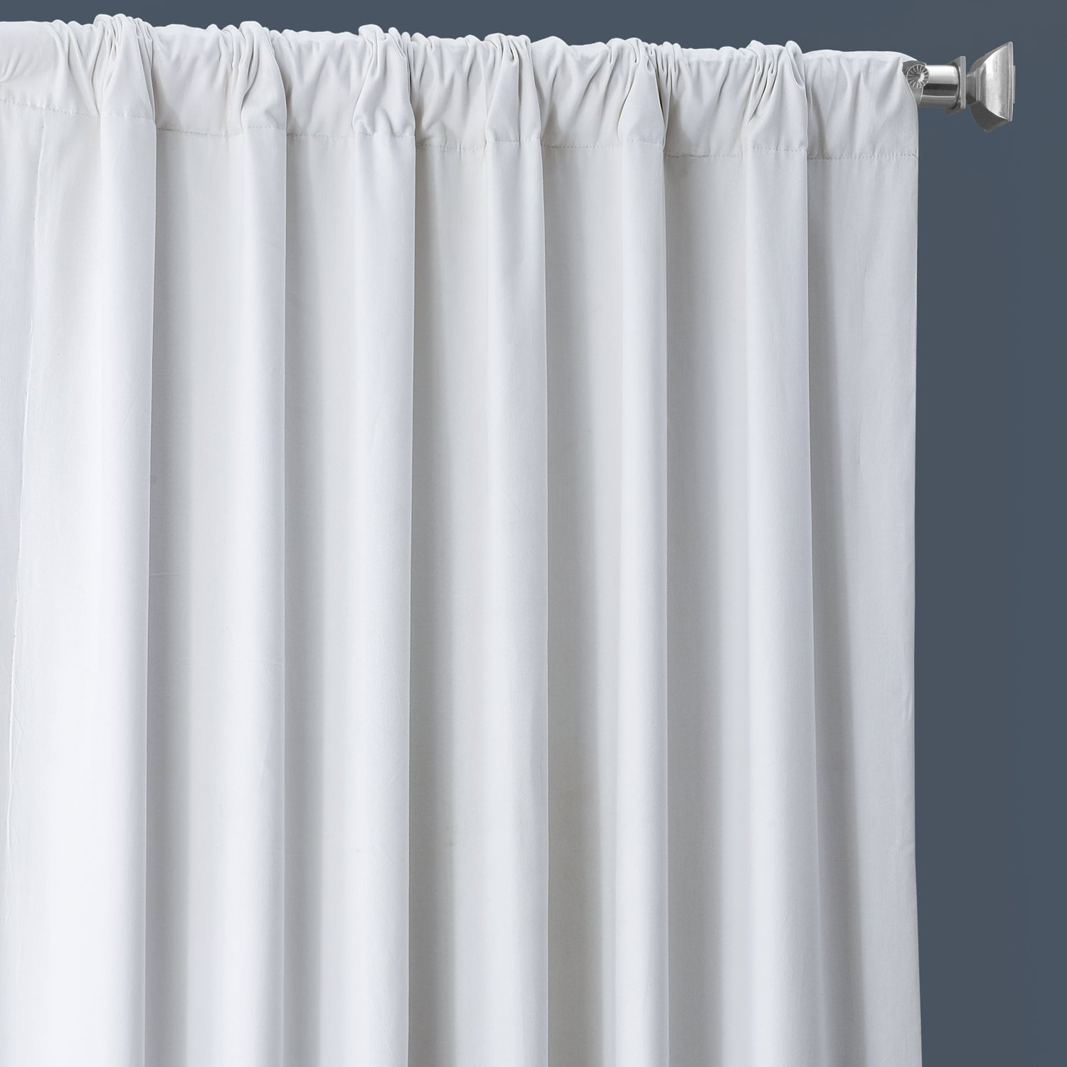 Whisper White Solid Cotton Blackout Curtain