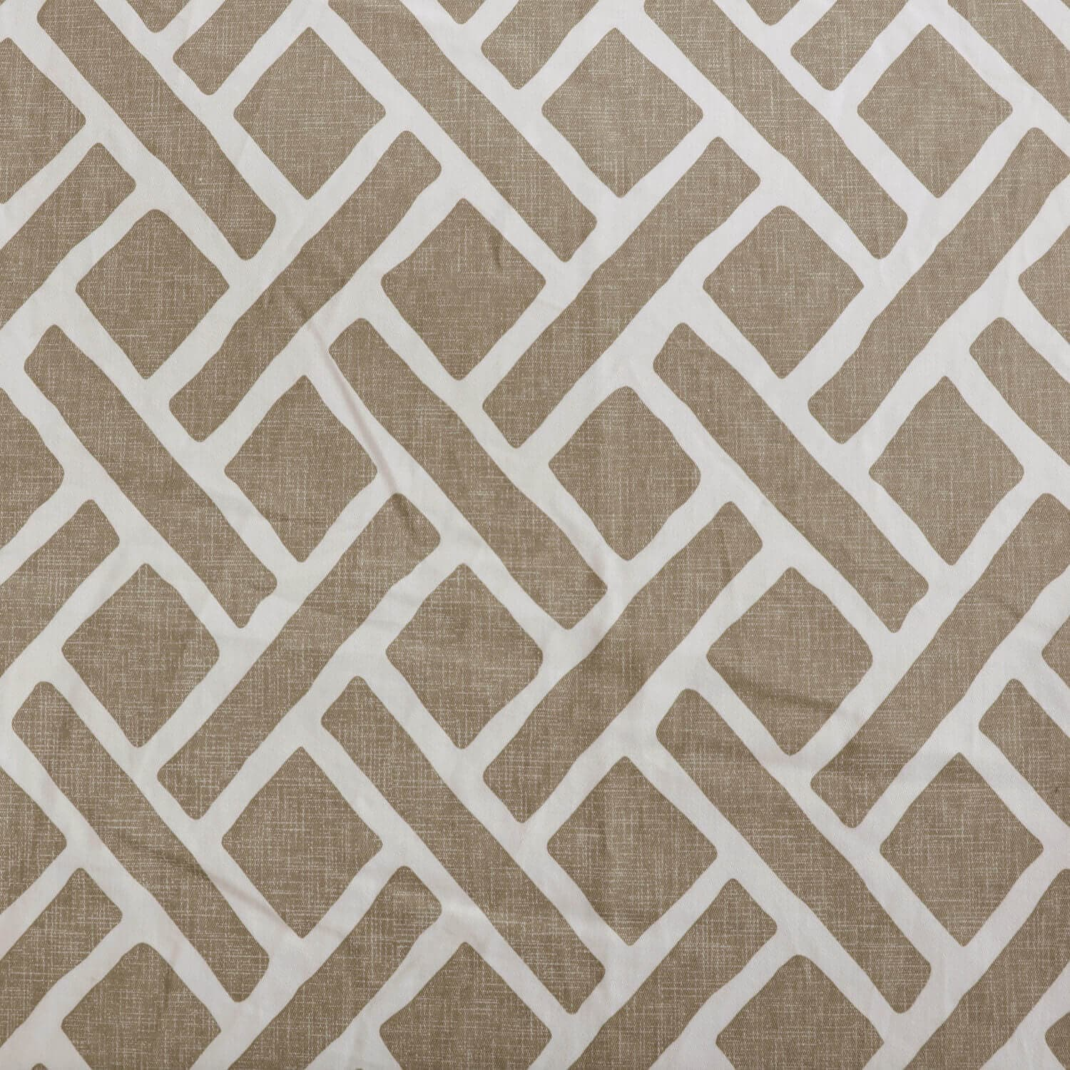 Martinique Taupe Printed Cotton Fabric