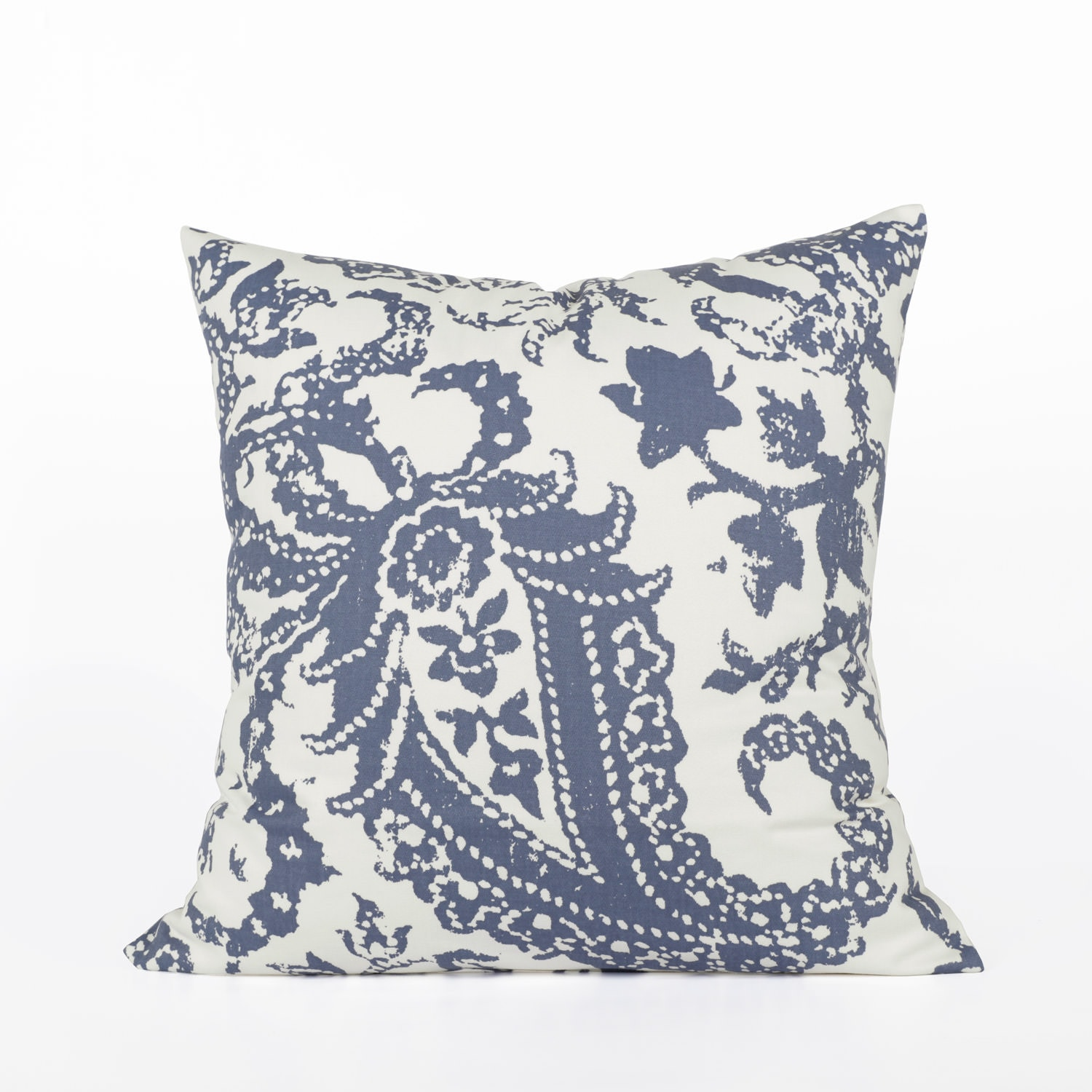 Edina Blue Printed Cotton Cushion Covers - PAIR