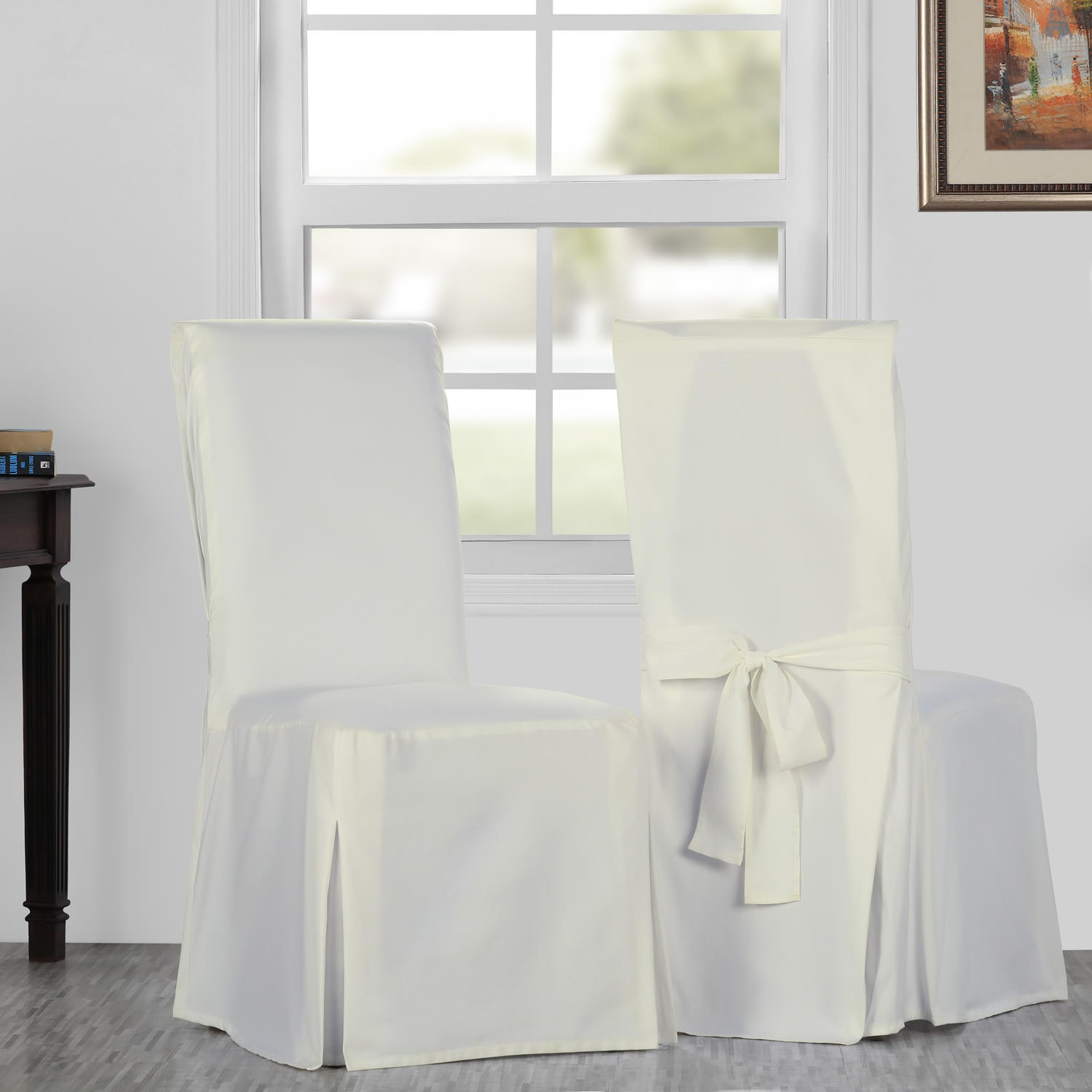 Fresh Popcorn Solid Cotton Twill Chair Covers