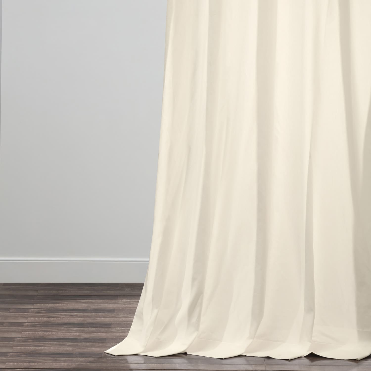 Fresh Popcorn Solid Cotton Pleated Curtain