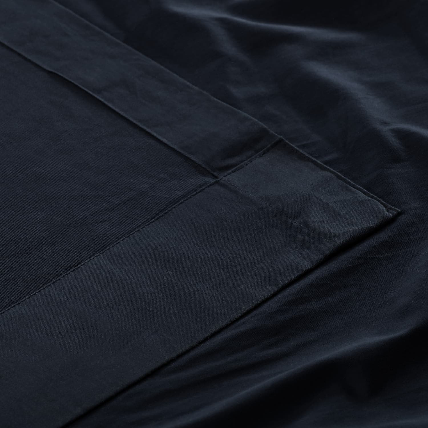 Polo Navy Solid Cotton Deluxe Tab Top Curtain