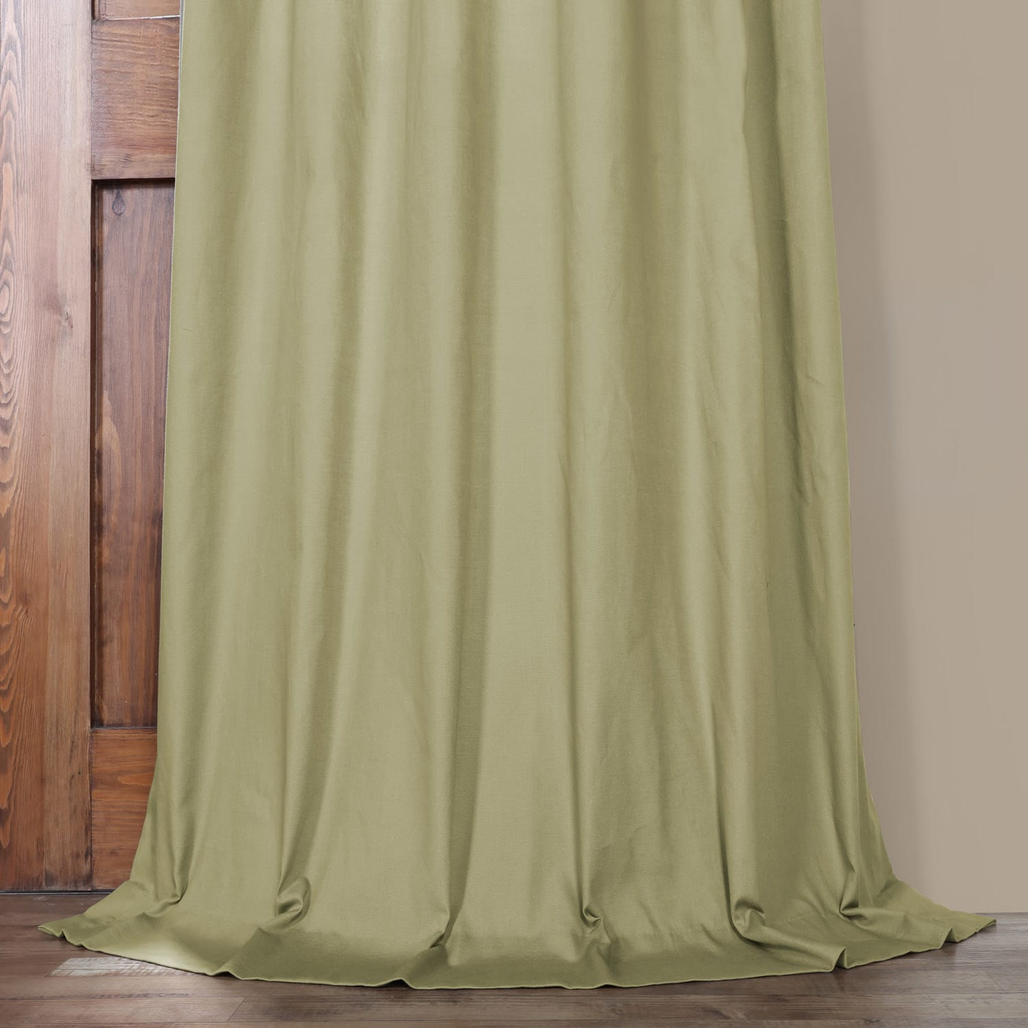 Mountain Moss Solid Cotton Curtain