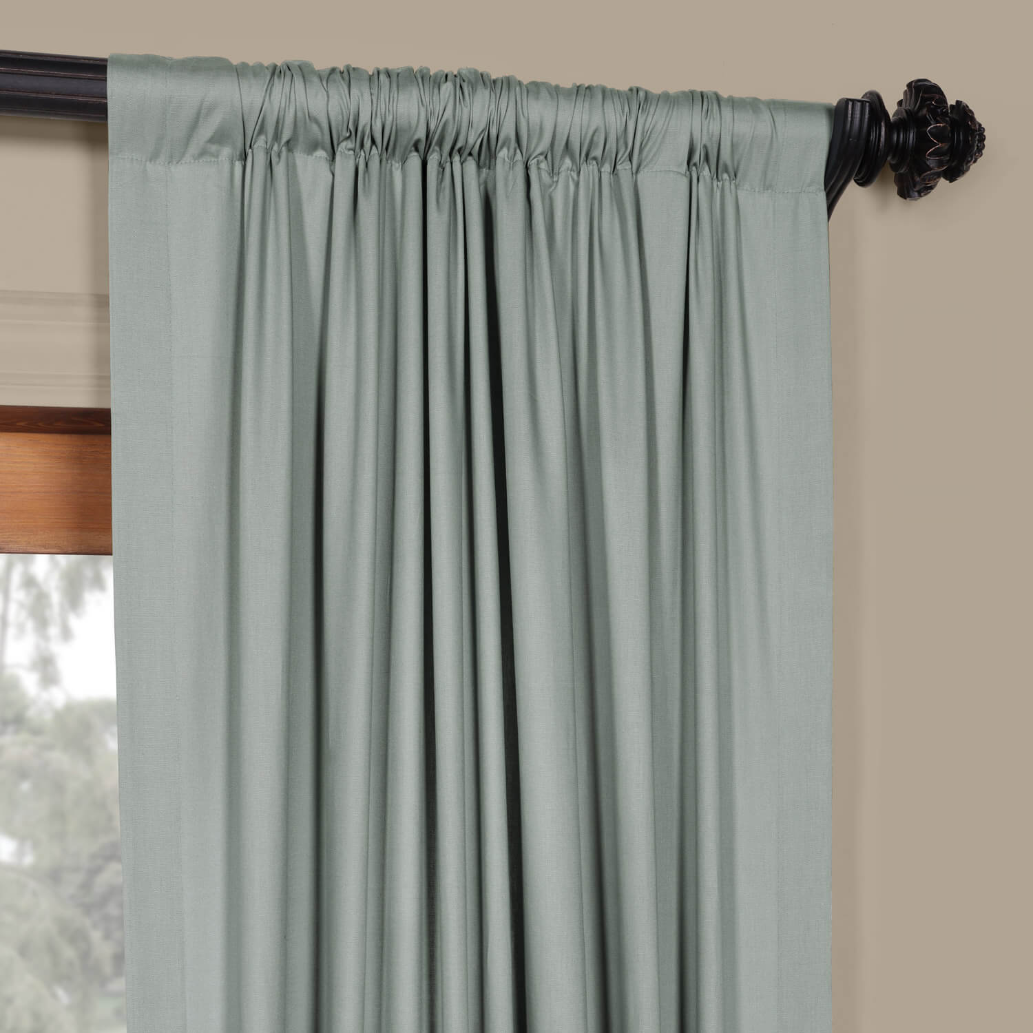Jasper Stone Solid Cotton Curtain