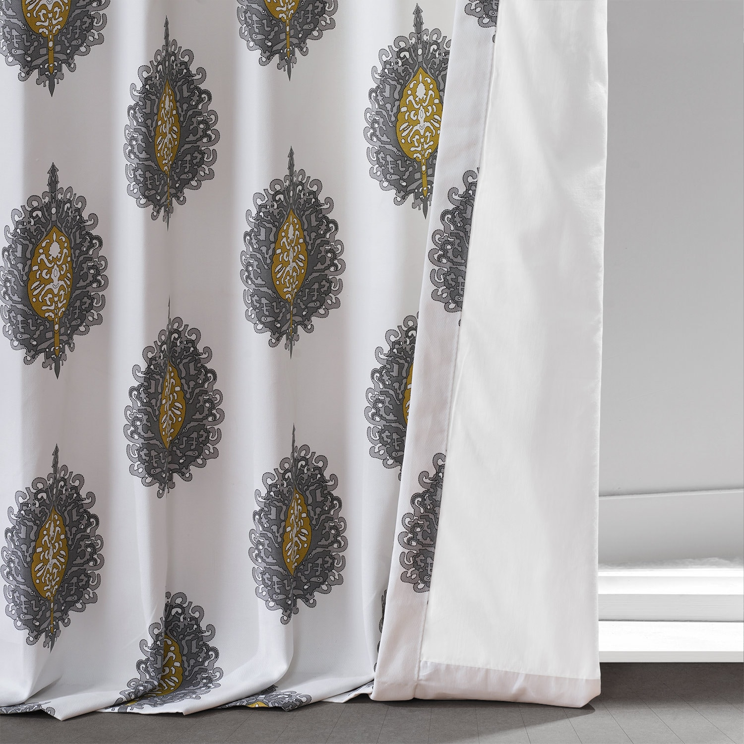 Mayan Gold Printed Cotton Twill Curtain