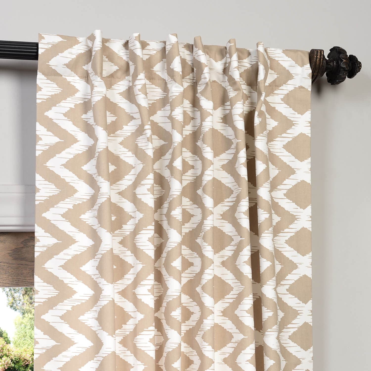 Palu Printed Cotton Curtain