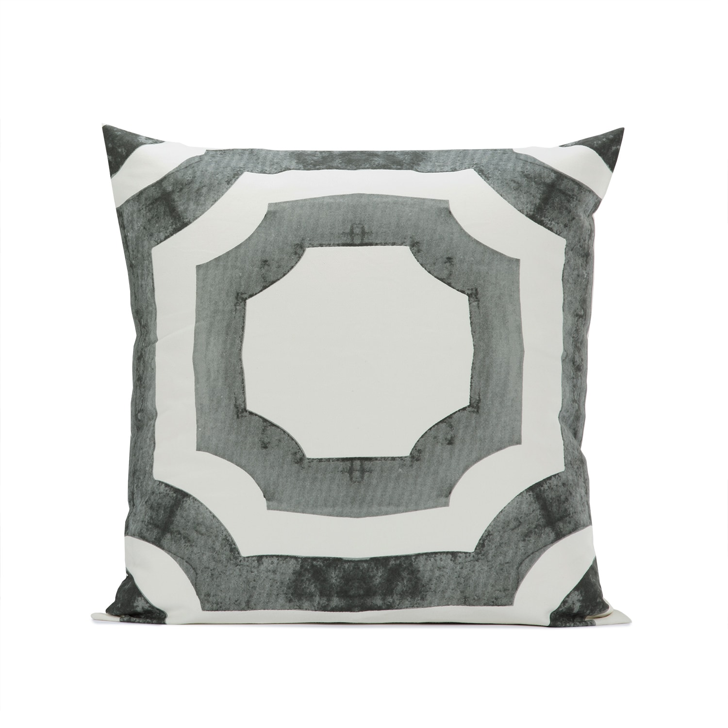 Mecca Steel Printed Cotton Cushion Covers - PAIR