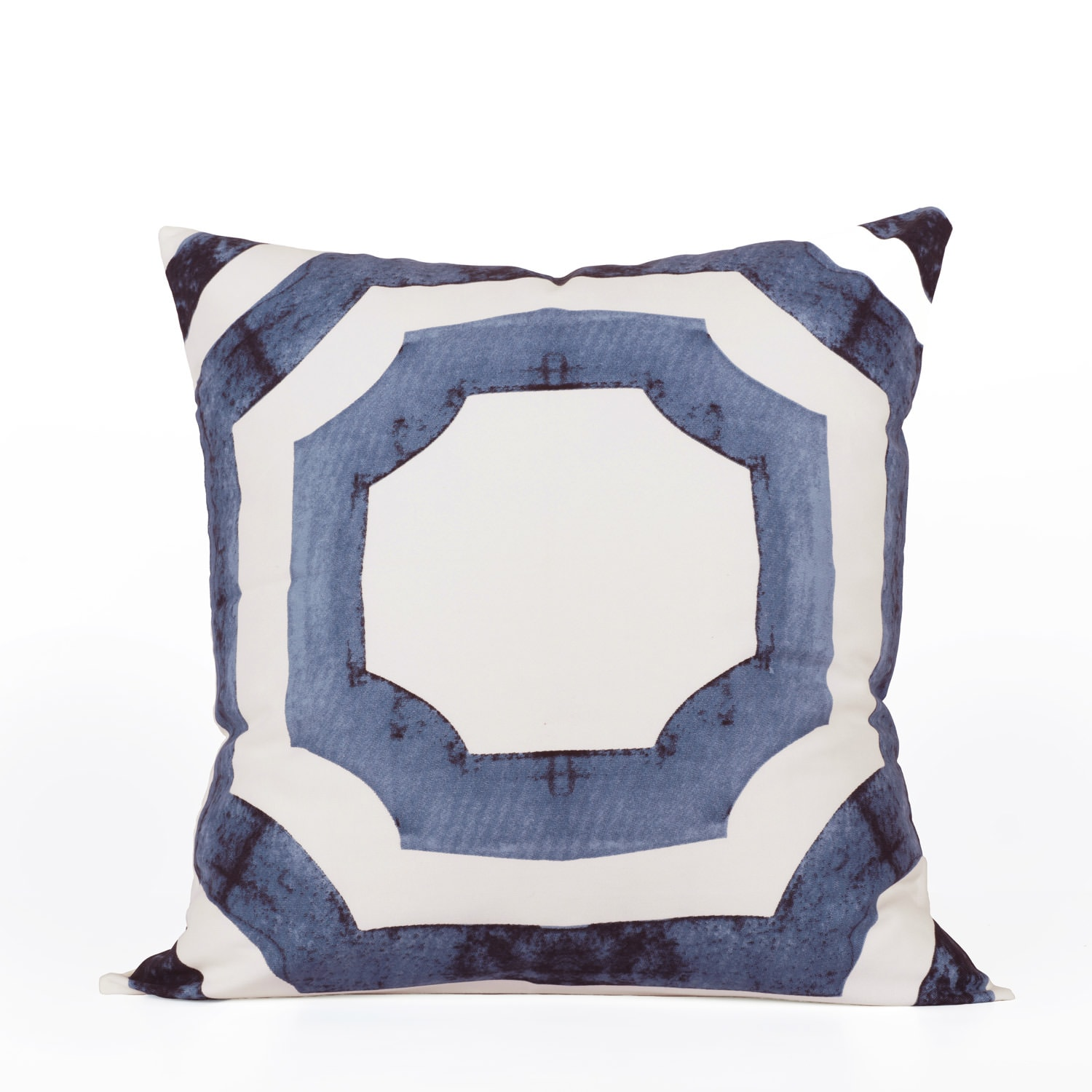 Mecca Blue Printed Cotton Cushion Covers - PAIR