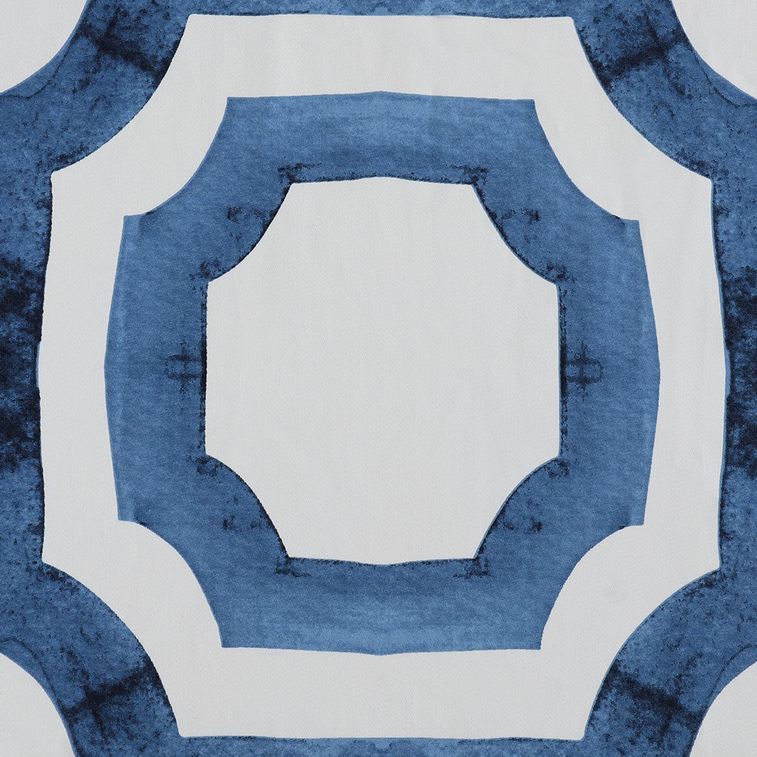 Mecca Blue Printed Cotton Fabric