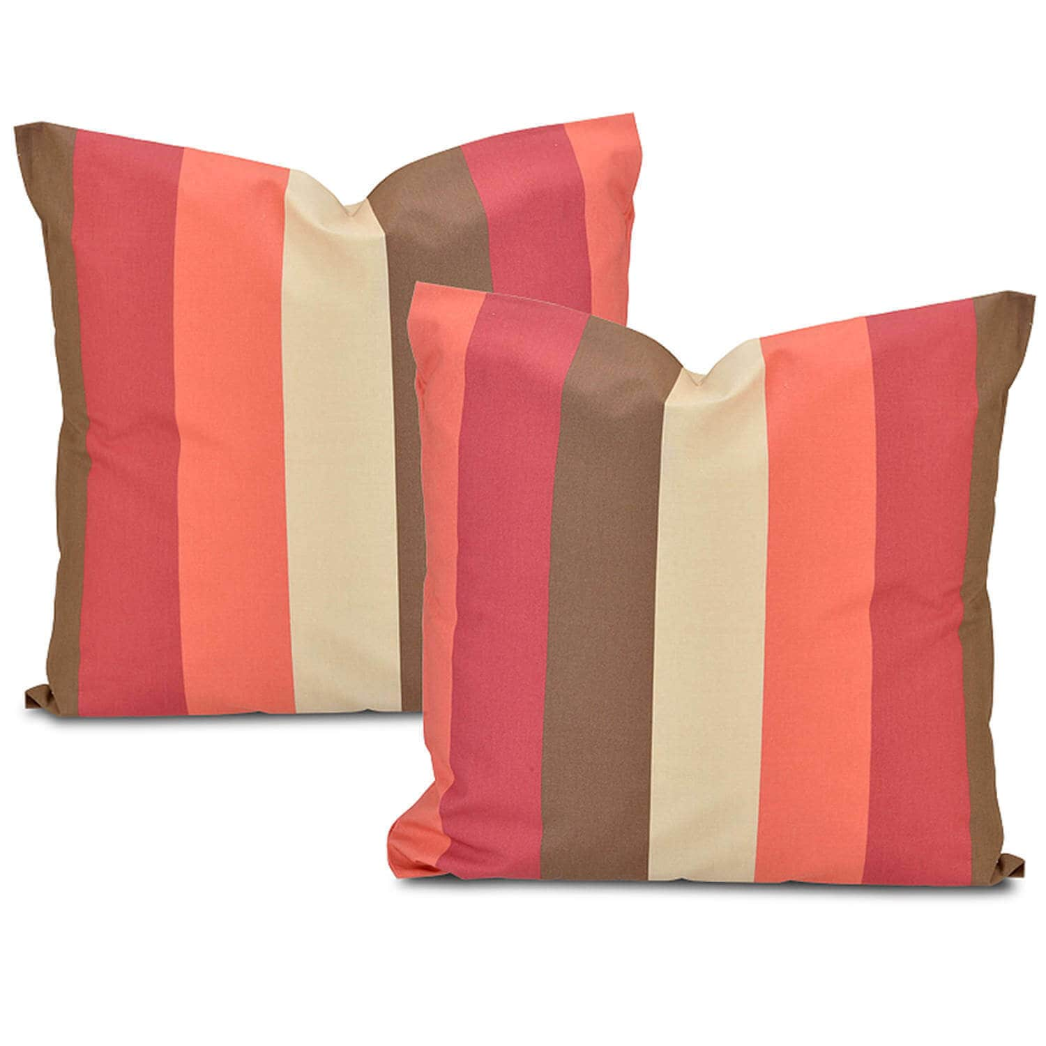 Picante Stripe Printed Cotton Cushion Covers - Pair