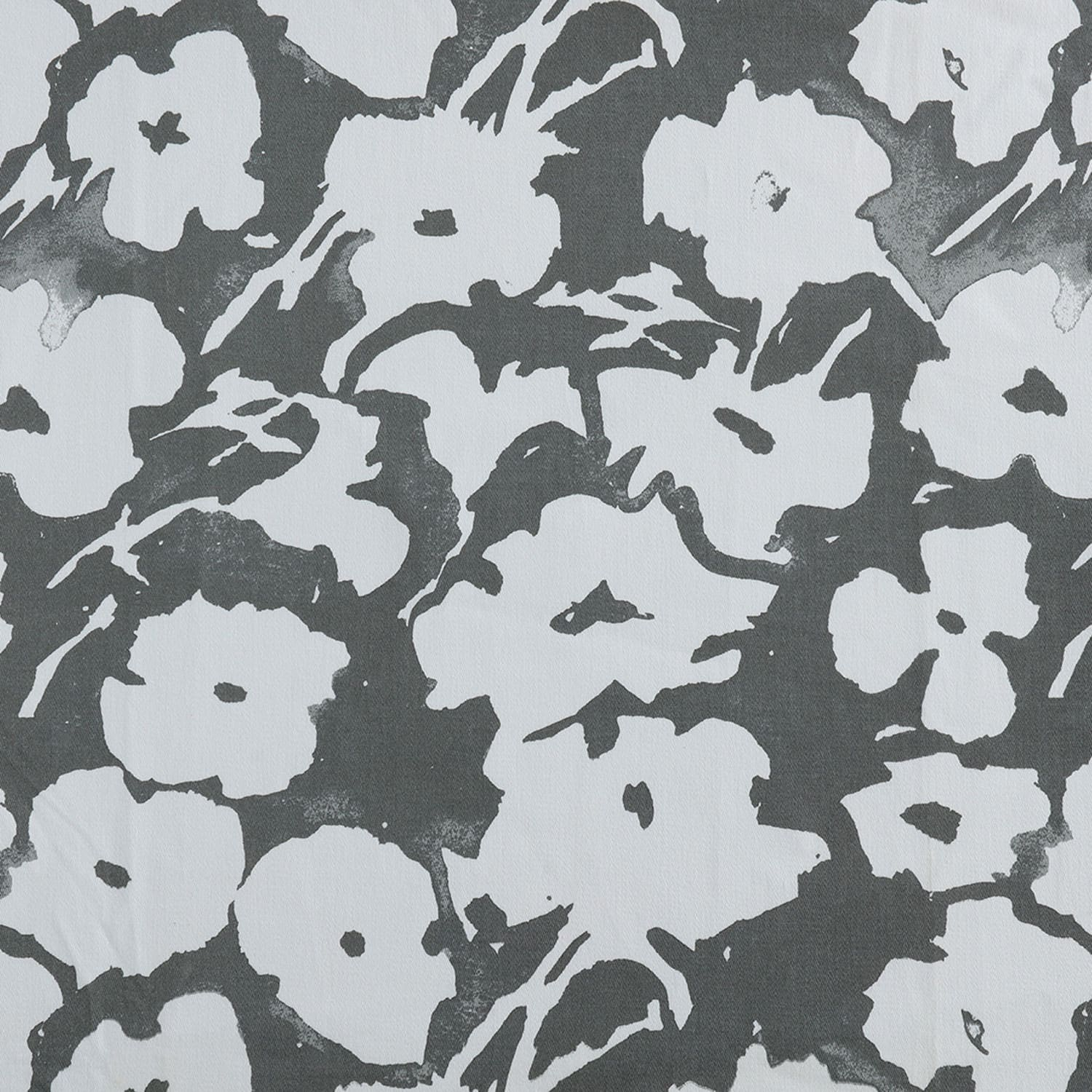Van Gogh Grey Printed Cotton Twill Swatch