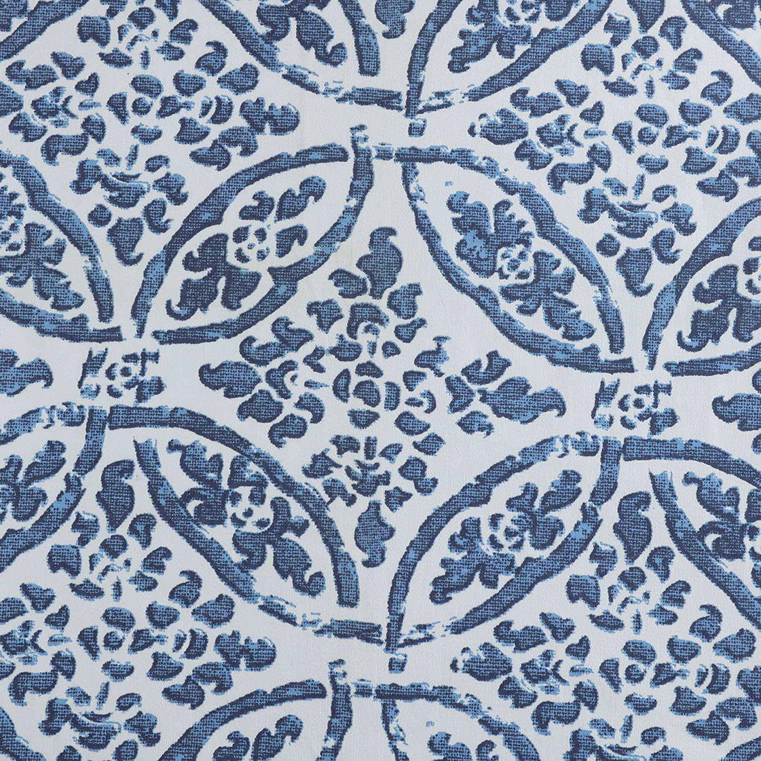 Catalina Blue Printed Cotton Twill