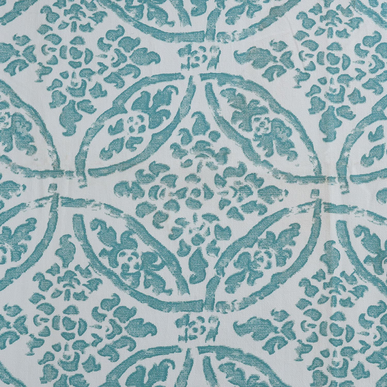 Catalina Aqua Printed Cotton Twill