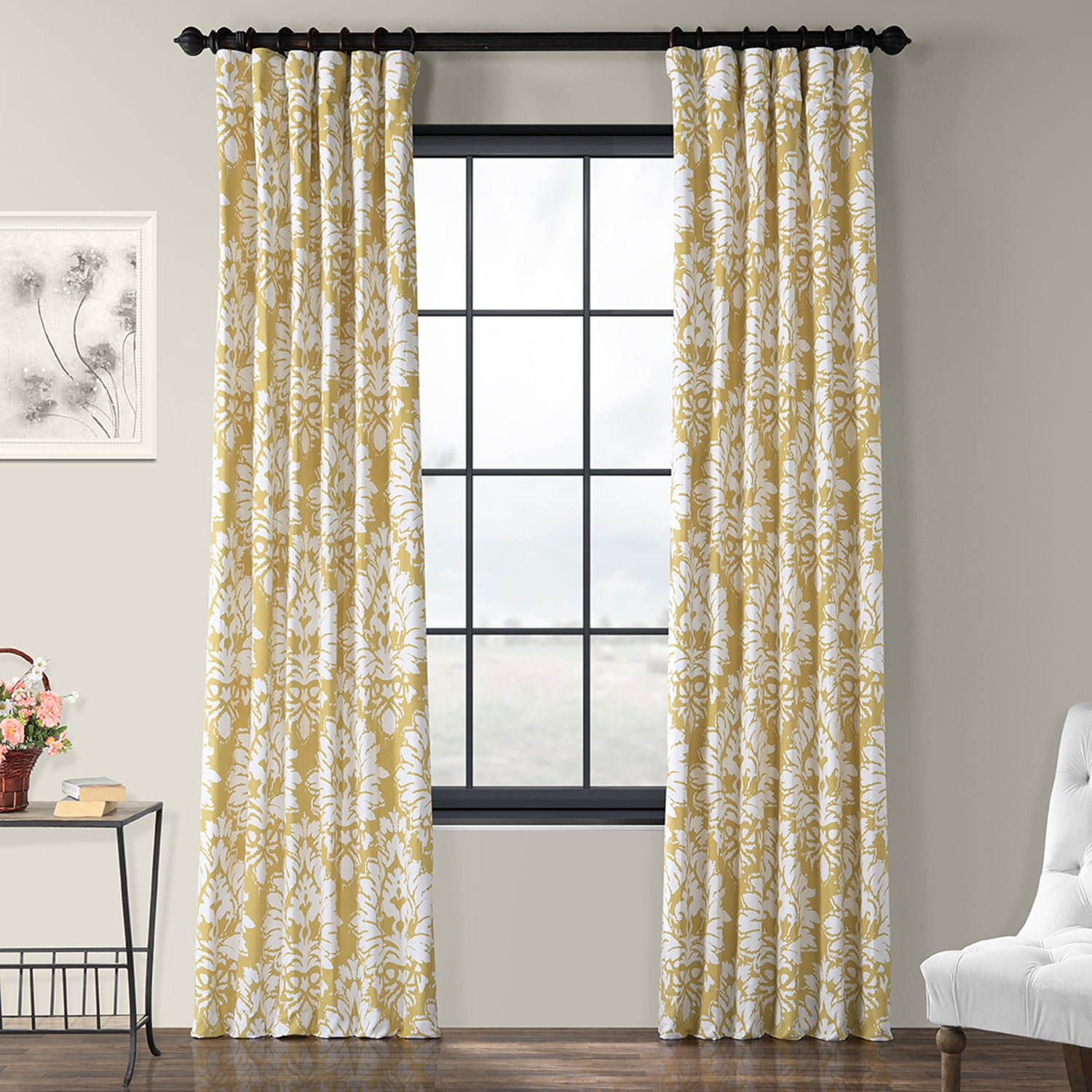 Lacuna Sun Printed Cotton Twill Curtain