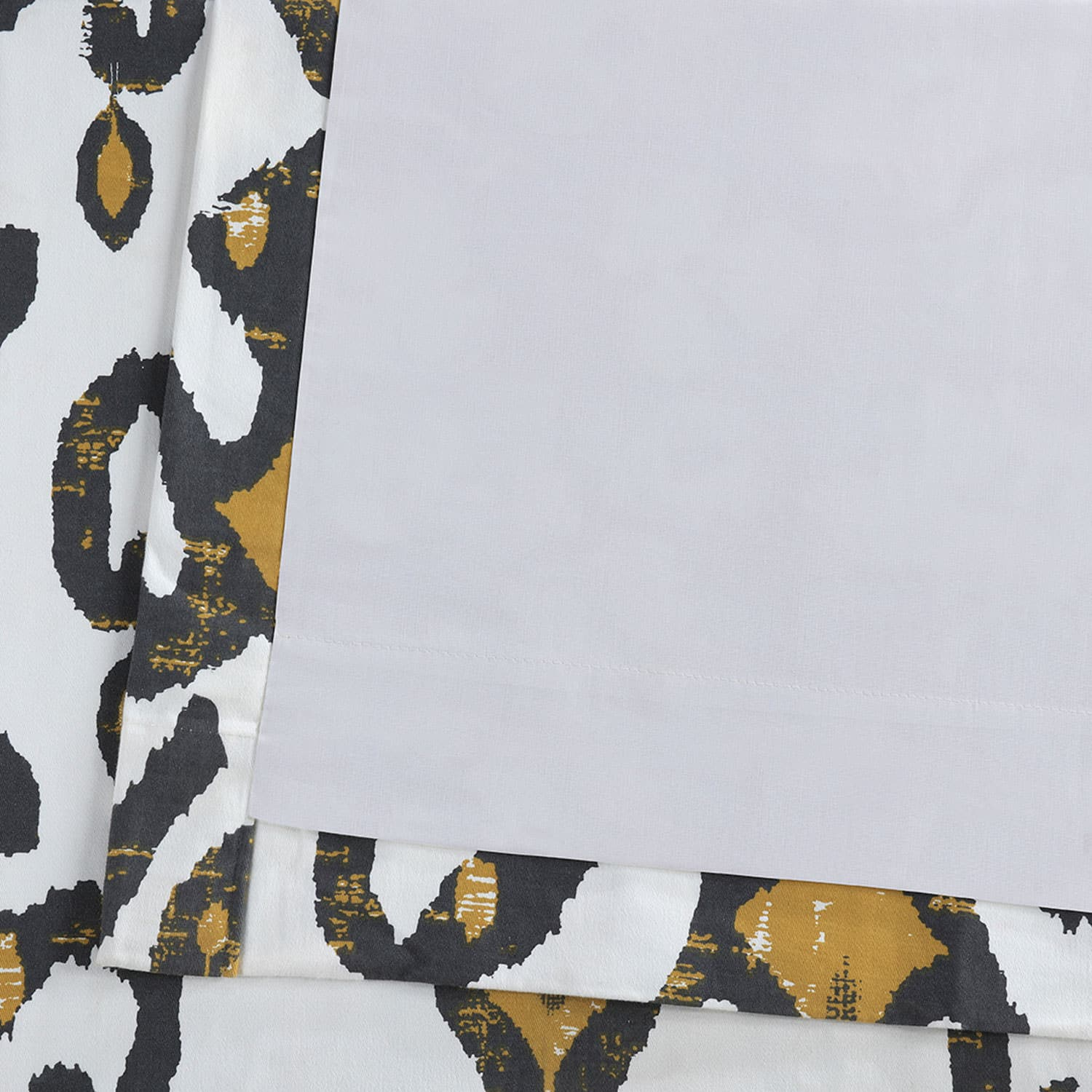 Lumiere Gold Printed Cotton Twill Curtain