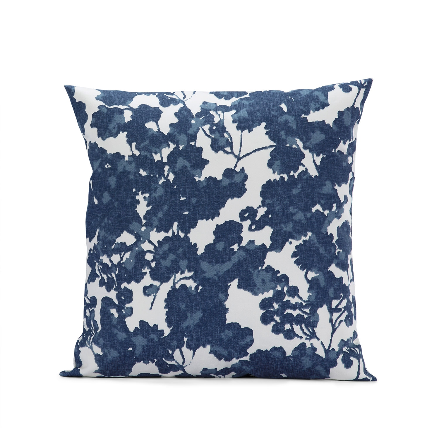 Fleur Blue Printed Cotton Cushion Covers - PAIR