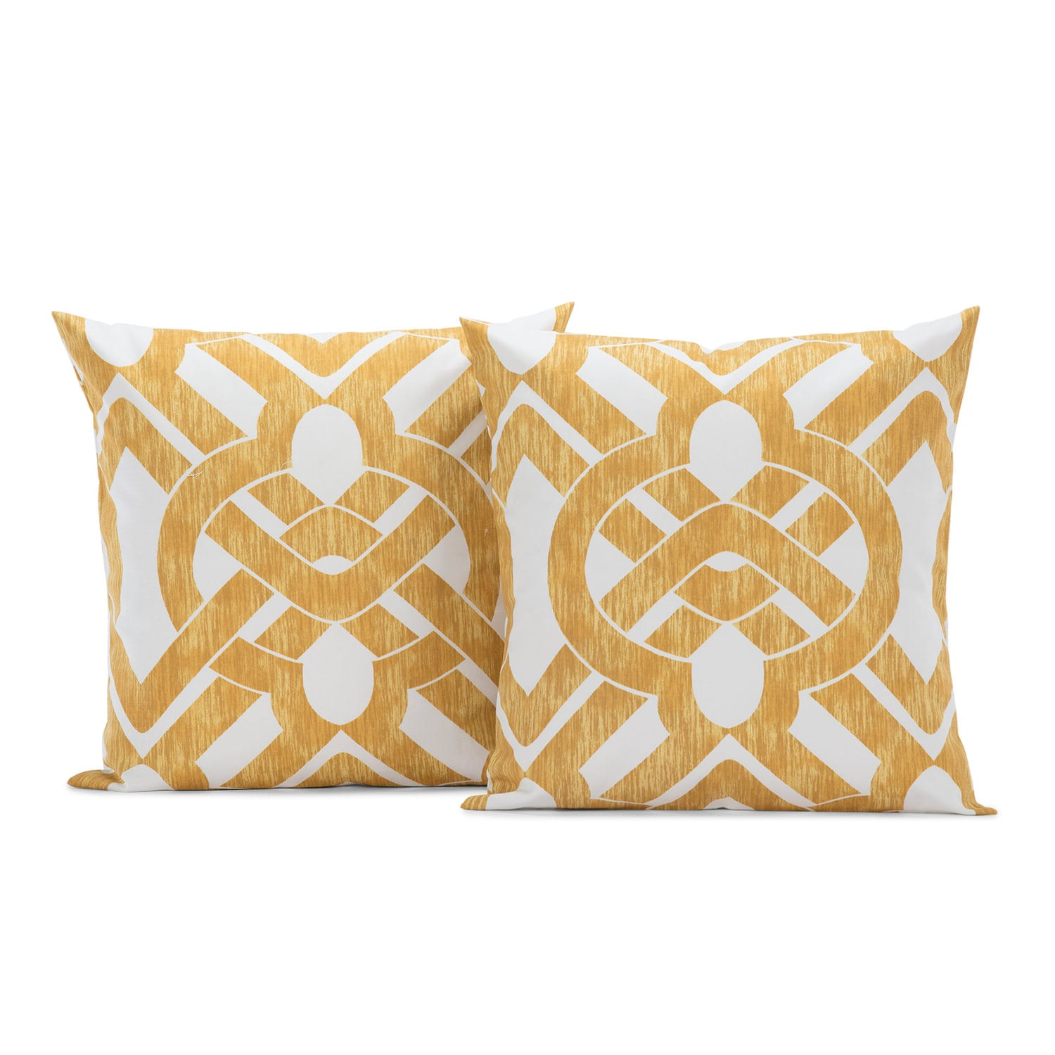 Celtic Gold Printed Cotton Cushion Covers - PAIR