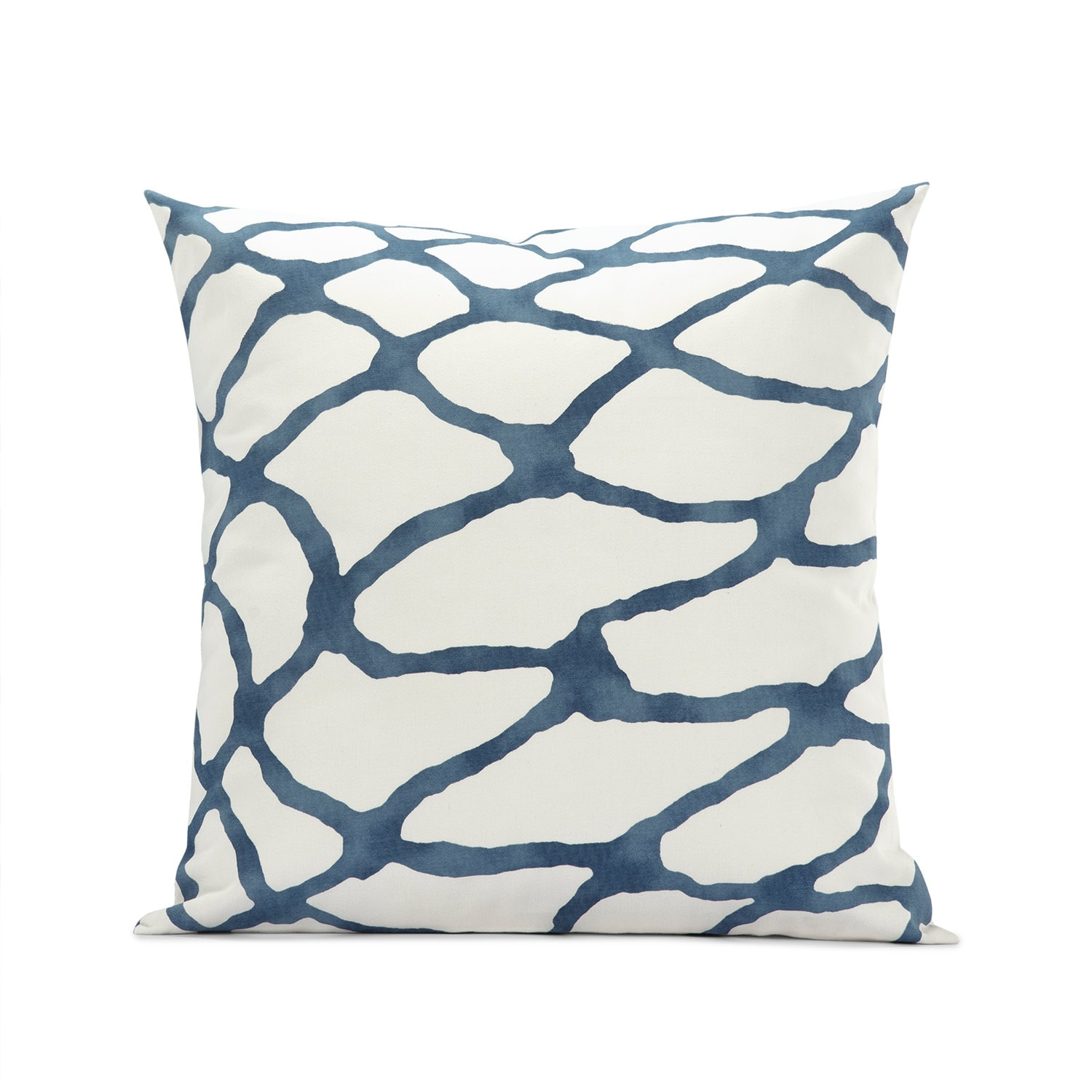 Ellis Blue Printed Cotton Cushion Covers - PAIR