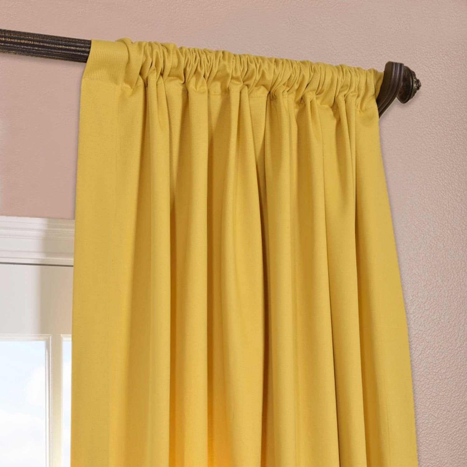 Yellow Cotton Twill Curtain Amp Drapes