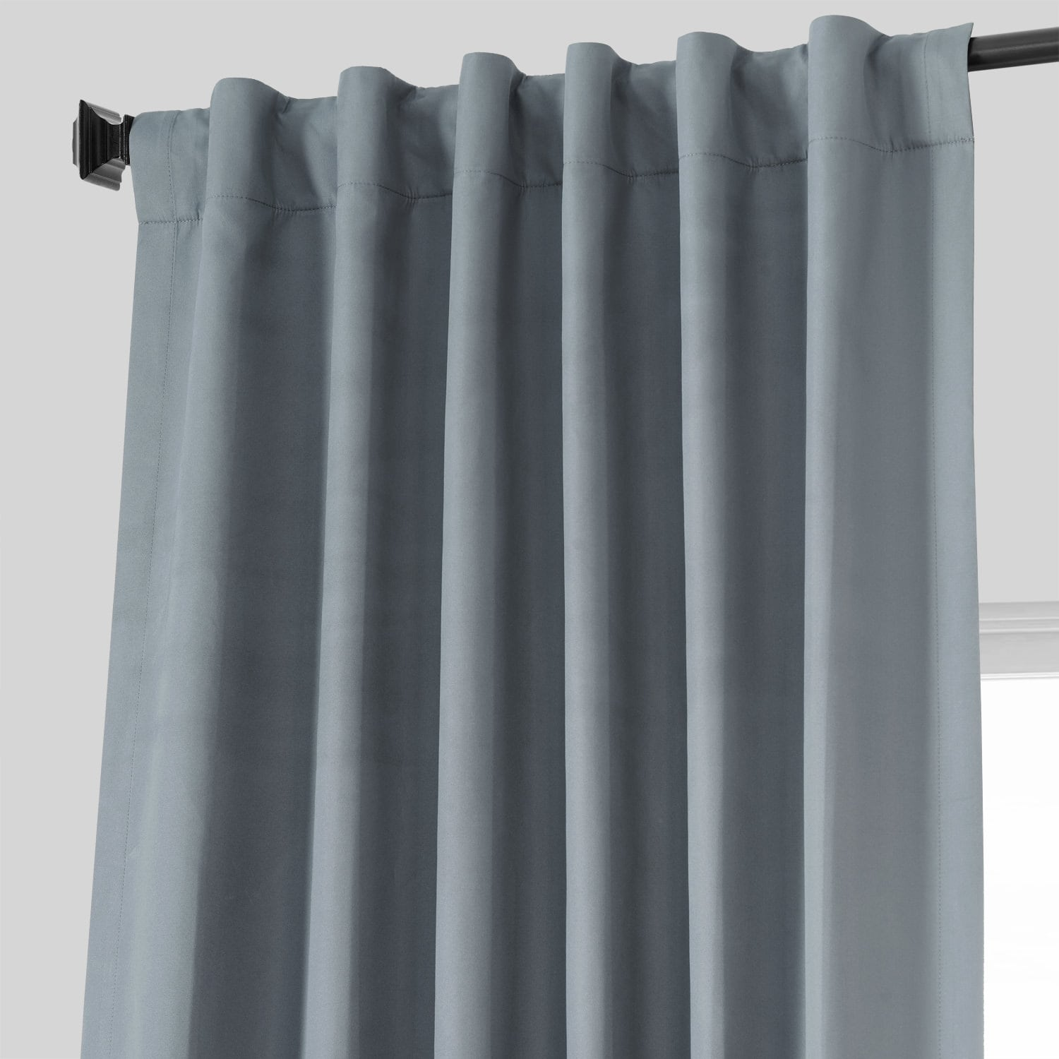 Spruce Blue Placid Thermal Hotel Blackout Curtain Pair (2 Panels)