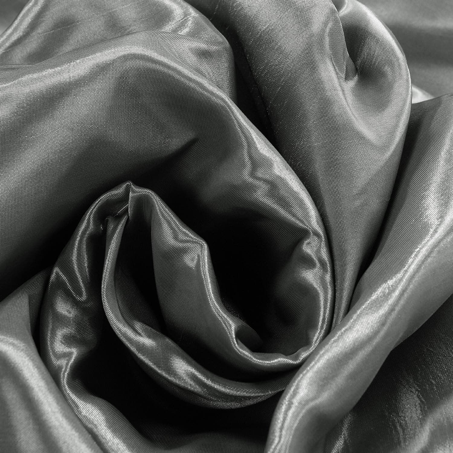 Polished Silver Blackout Extra Wide Faux Silk Taffeta Swatch