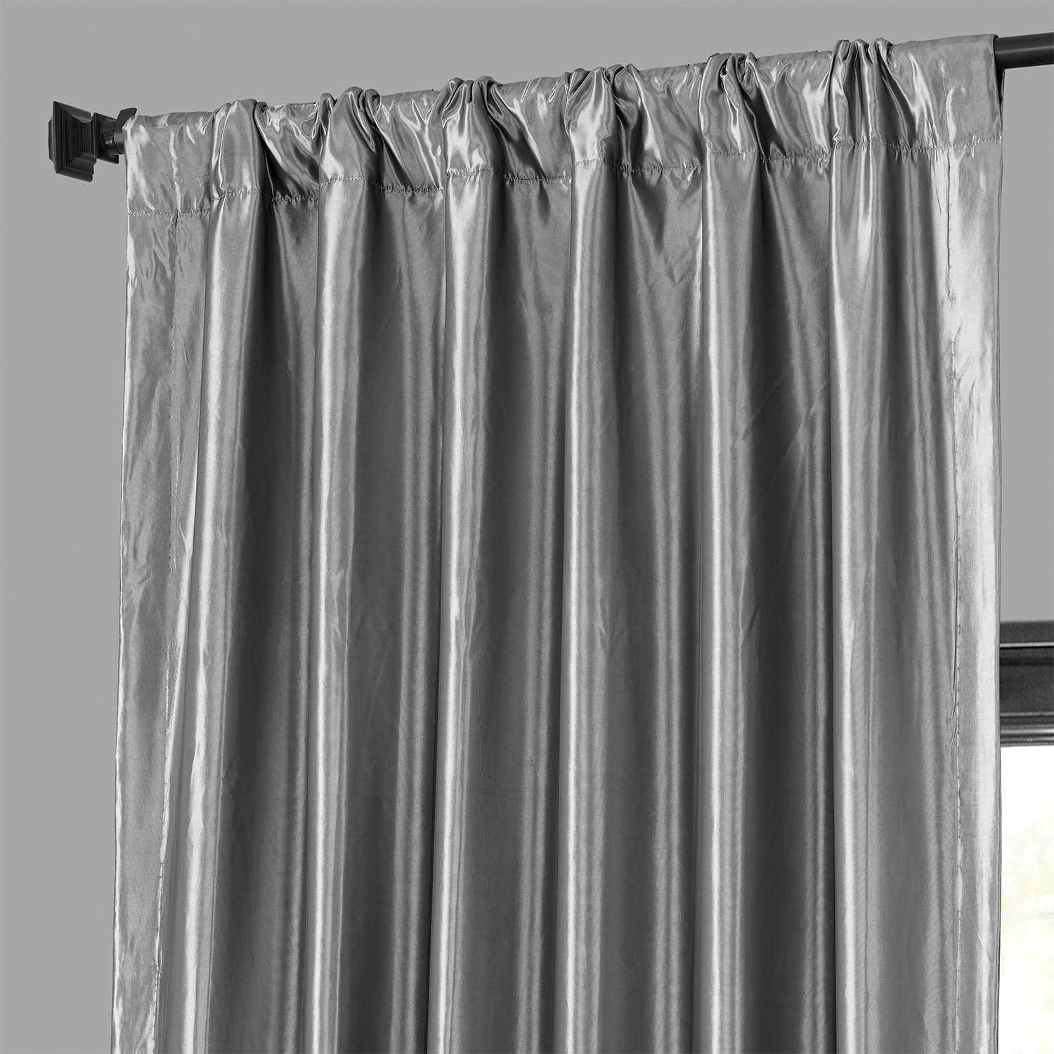 faux silk curtains platinum blackout faux silk taffeta curtains drapes 10803